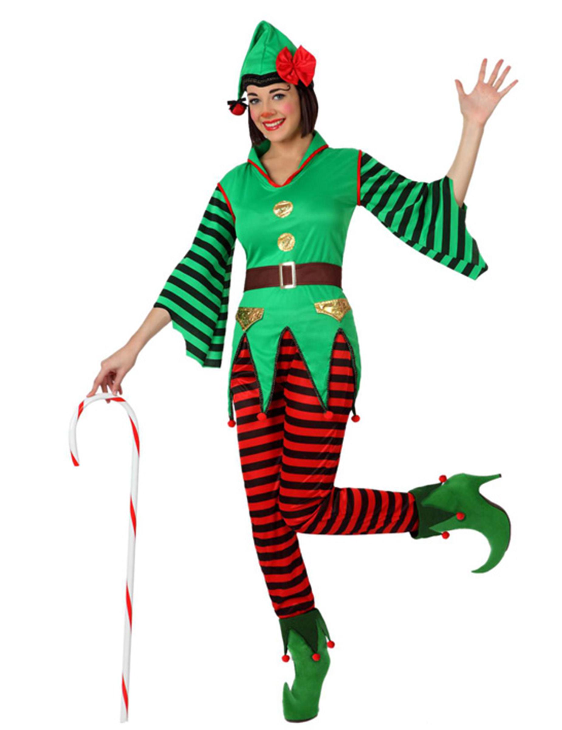 Costume elfo bastoncino zuccherato donna Natale  Costumi adulti c9951ebe9cb