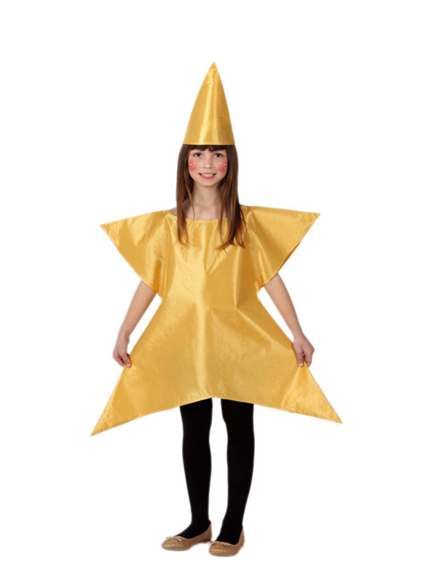 Vestito Da Stella Per Recita Di Natale.Costume Da Stella Dorata Per Bambina Costumi Bambini E Vestiti Di