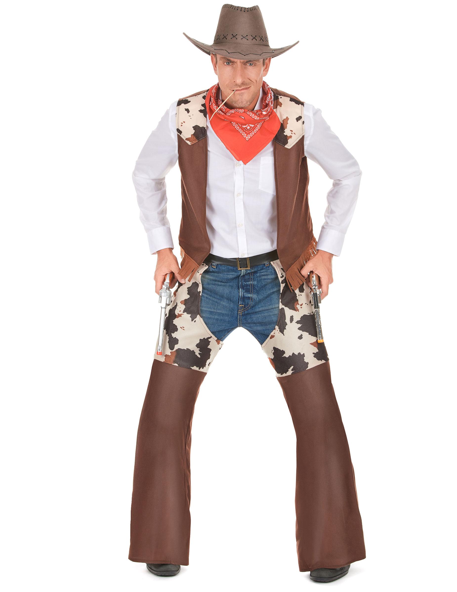 costume cowboy adulto costumi adulti e vestiti di carnevale online vegaoo. Black Bedroom Furniture Sets. Home Design Ideas