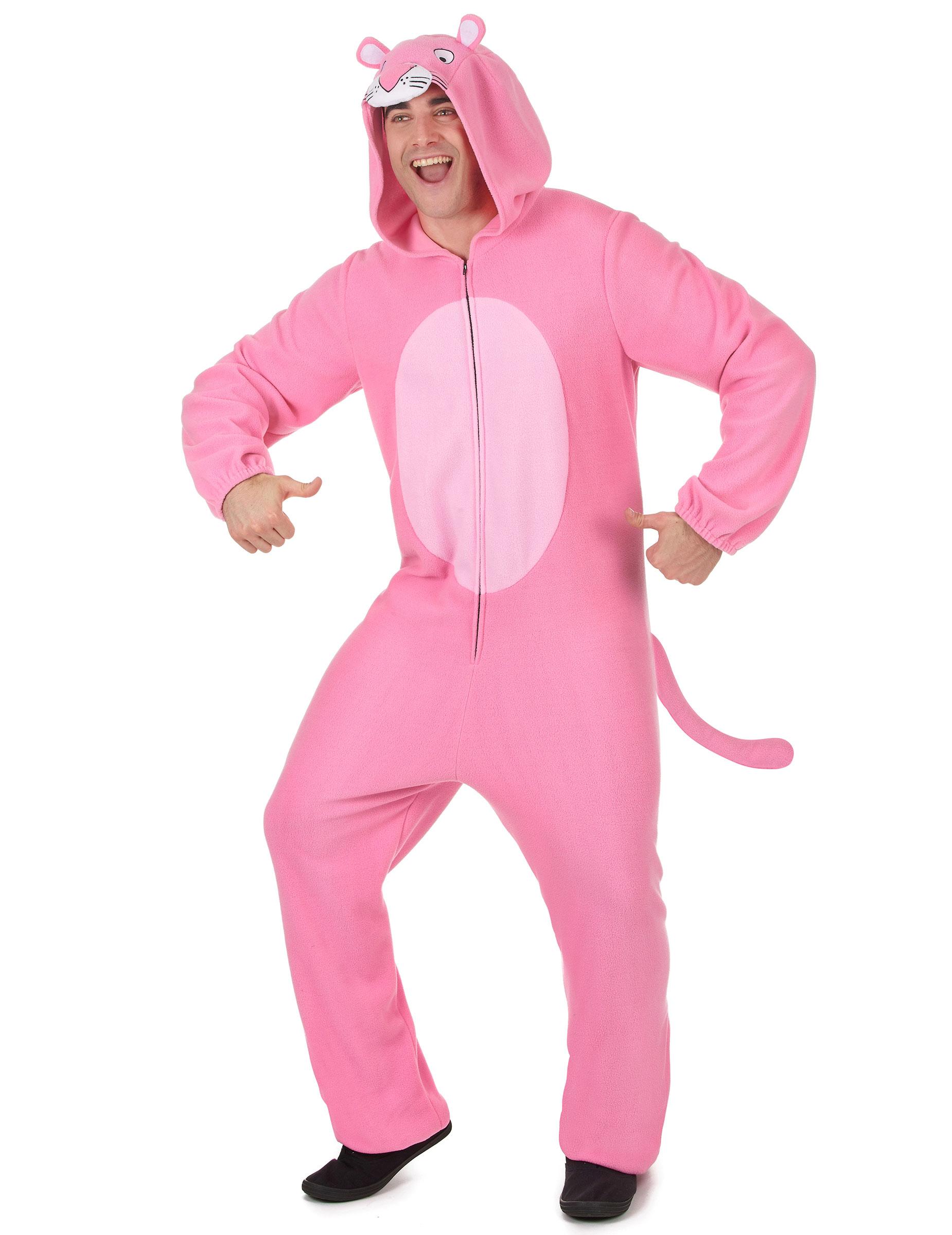 Tuta Con Cappuccio Pantera Rosa Uomo Costumi Adultie Vestiti Di