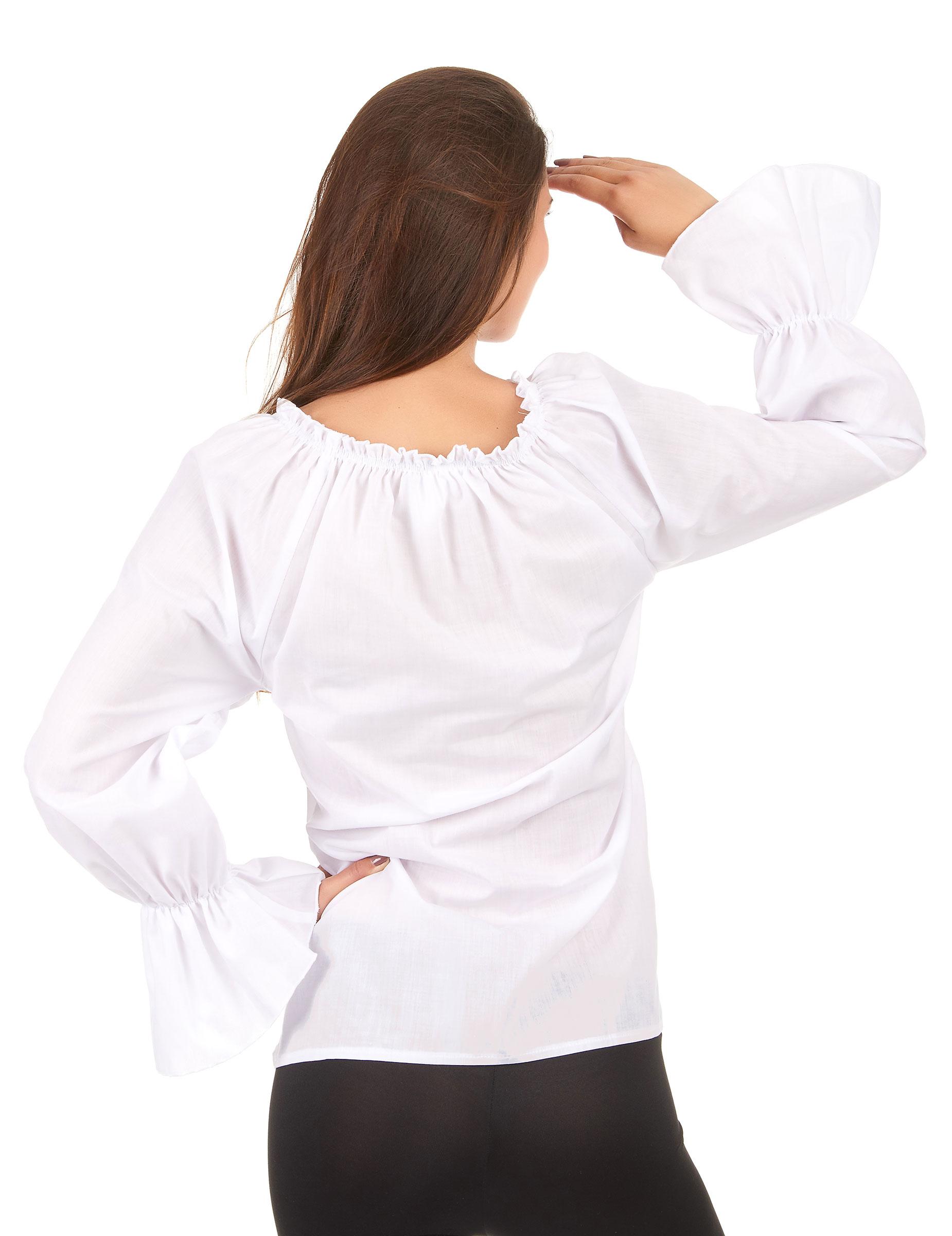 bianca Camicia adulti e Costumi di maniche vestiti Donna lunghe Rww1Fqa