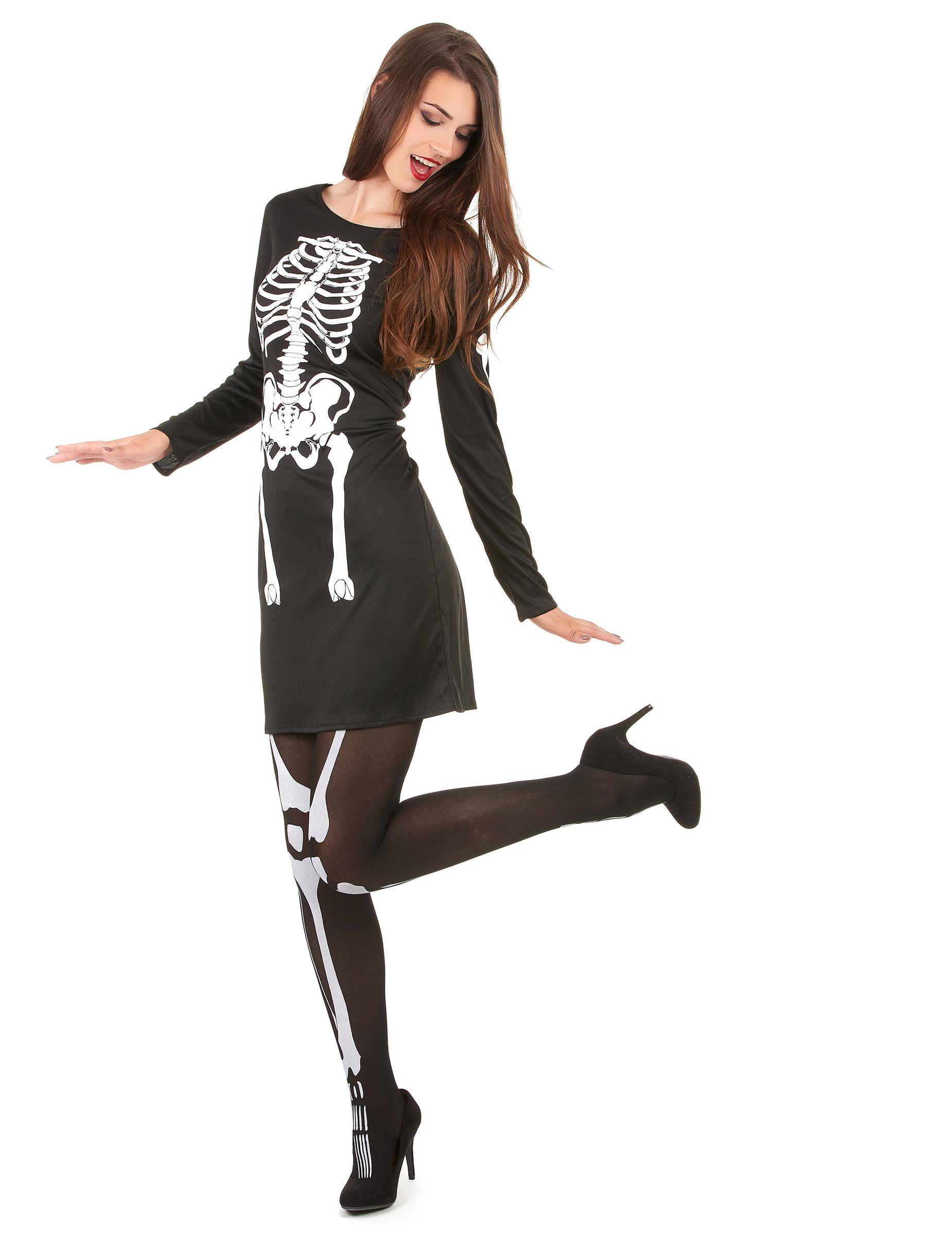 Costume scheletro Halloween donna  Costumi adulti e2cff385d6f0