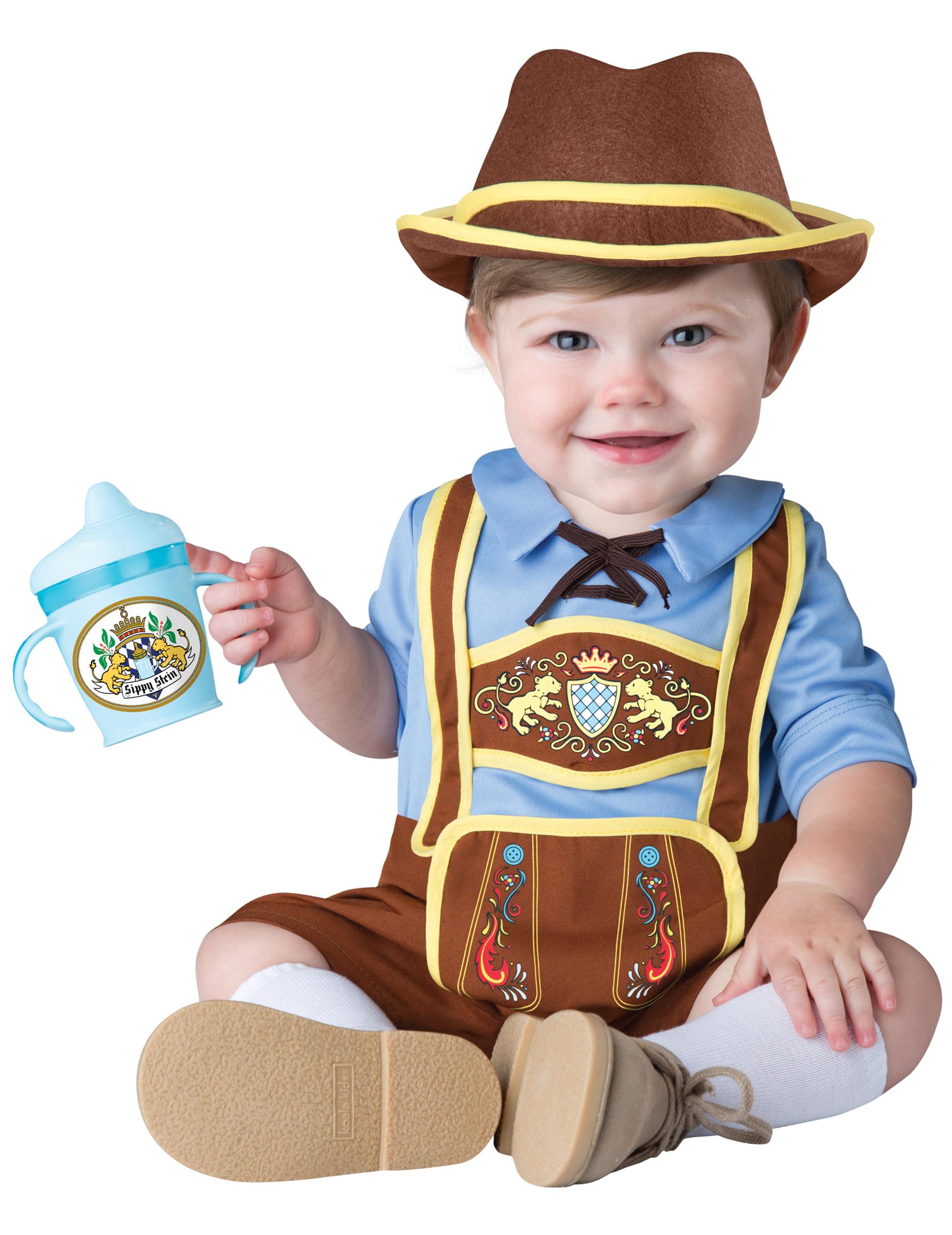 Costume da mini-bavarese per neonato bambino - Classico  Costumi ... 5d3a67aed95