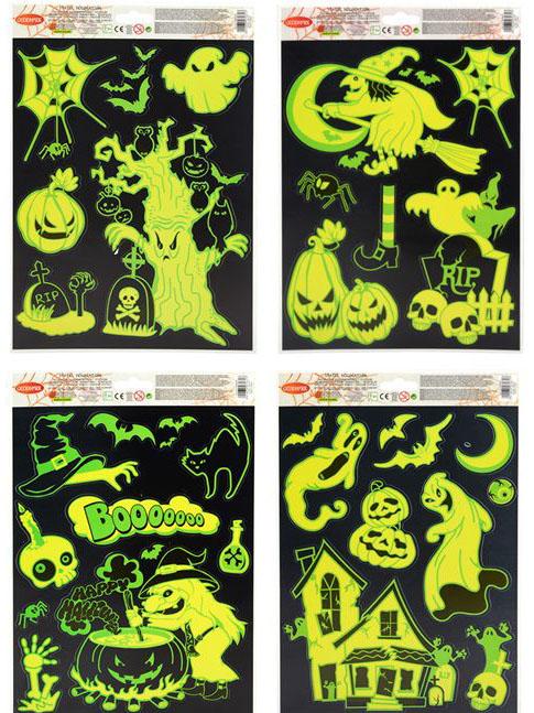 decorazione fosforescenti per finestre halloween: addobbi,e ... - Decorazioni Per Finestre Halloween