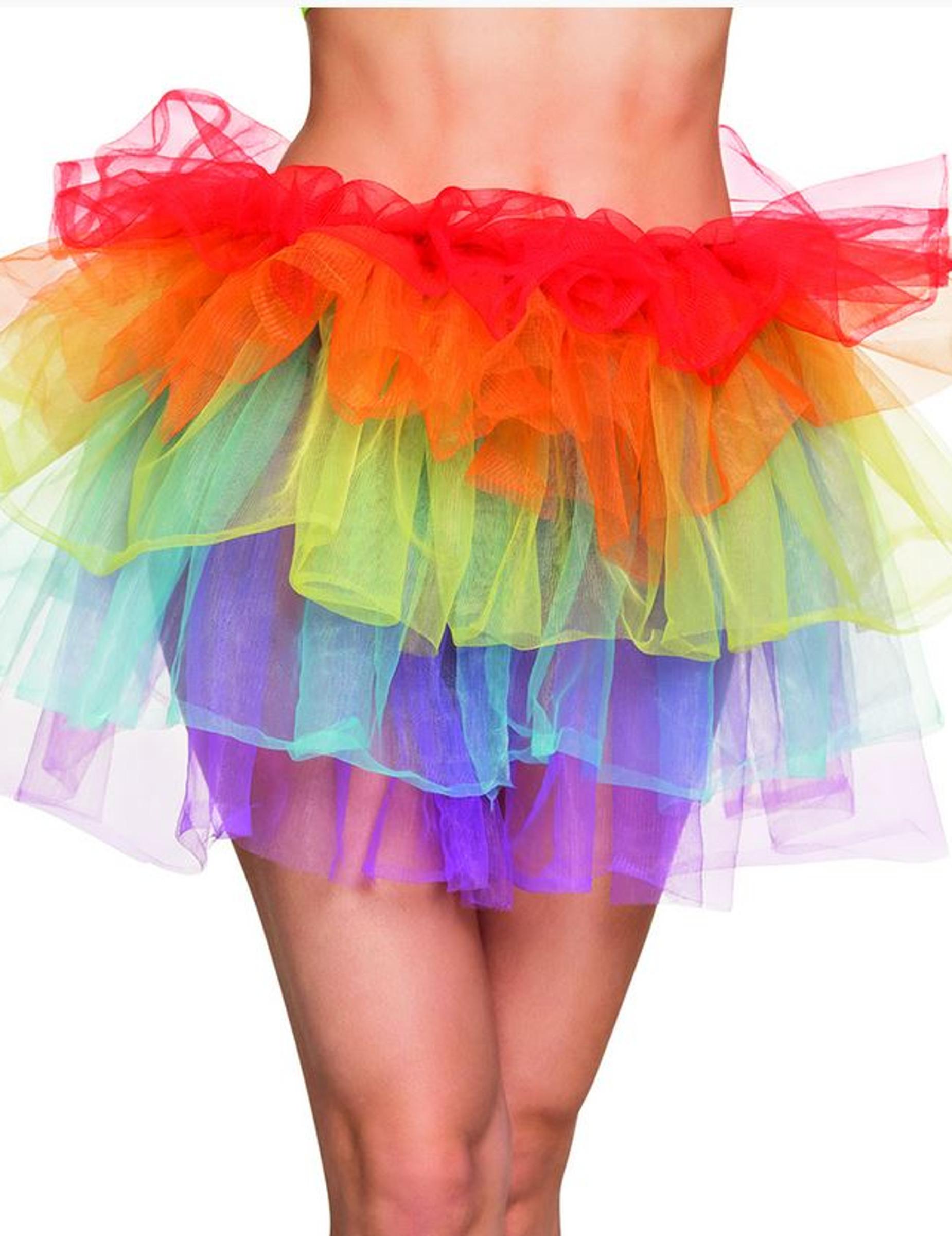 informazioni per 2eb36 87486 Gonna tutù arcobaleno per Donna