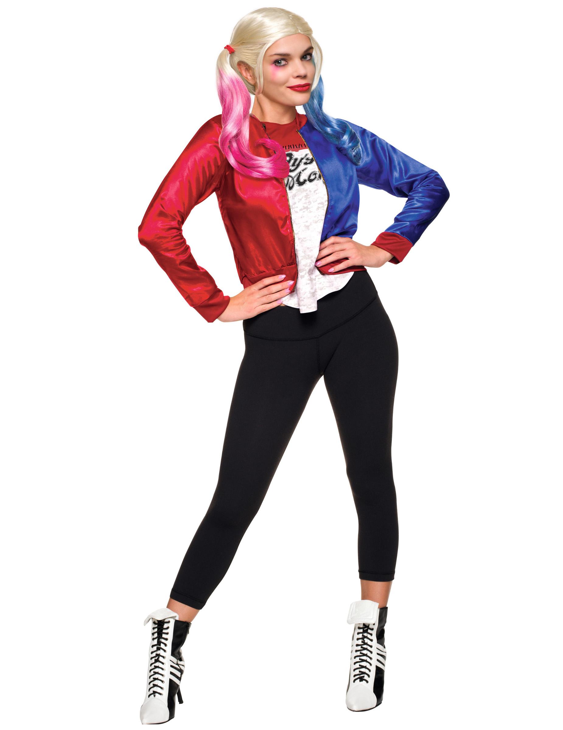 Costume Giacca e maglietta adulto Harley Quinn - Suicide Squad ... 539ad321000