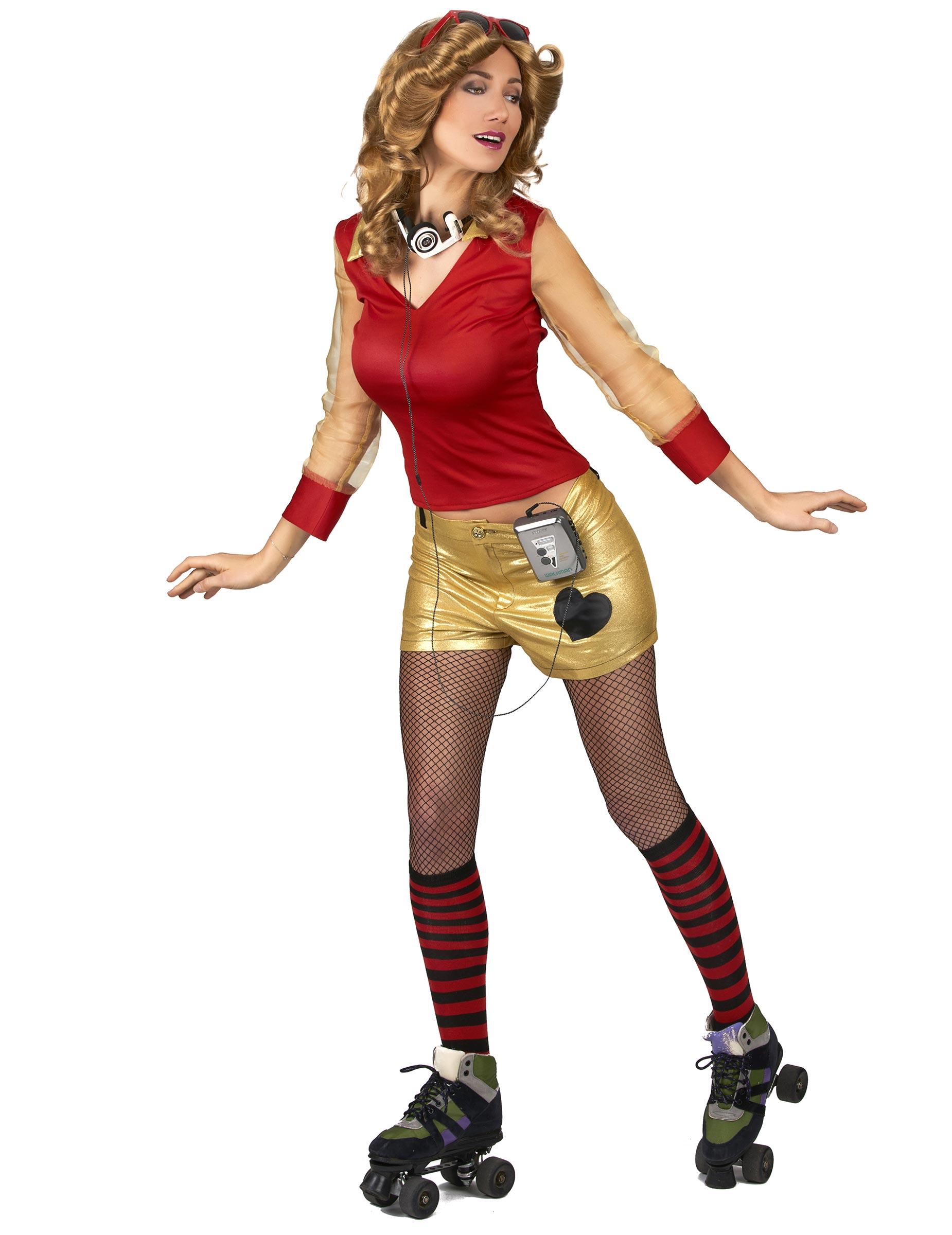 Costume da donna anni u0026#39;80 dorato e rosso Costumi adultie vestiti di carnevale online - Vegaoo
