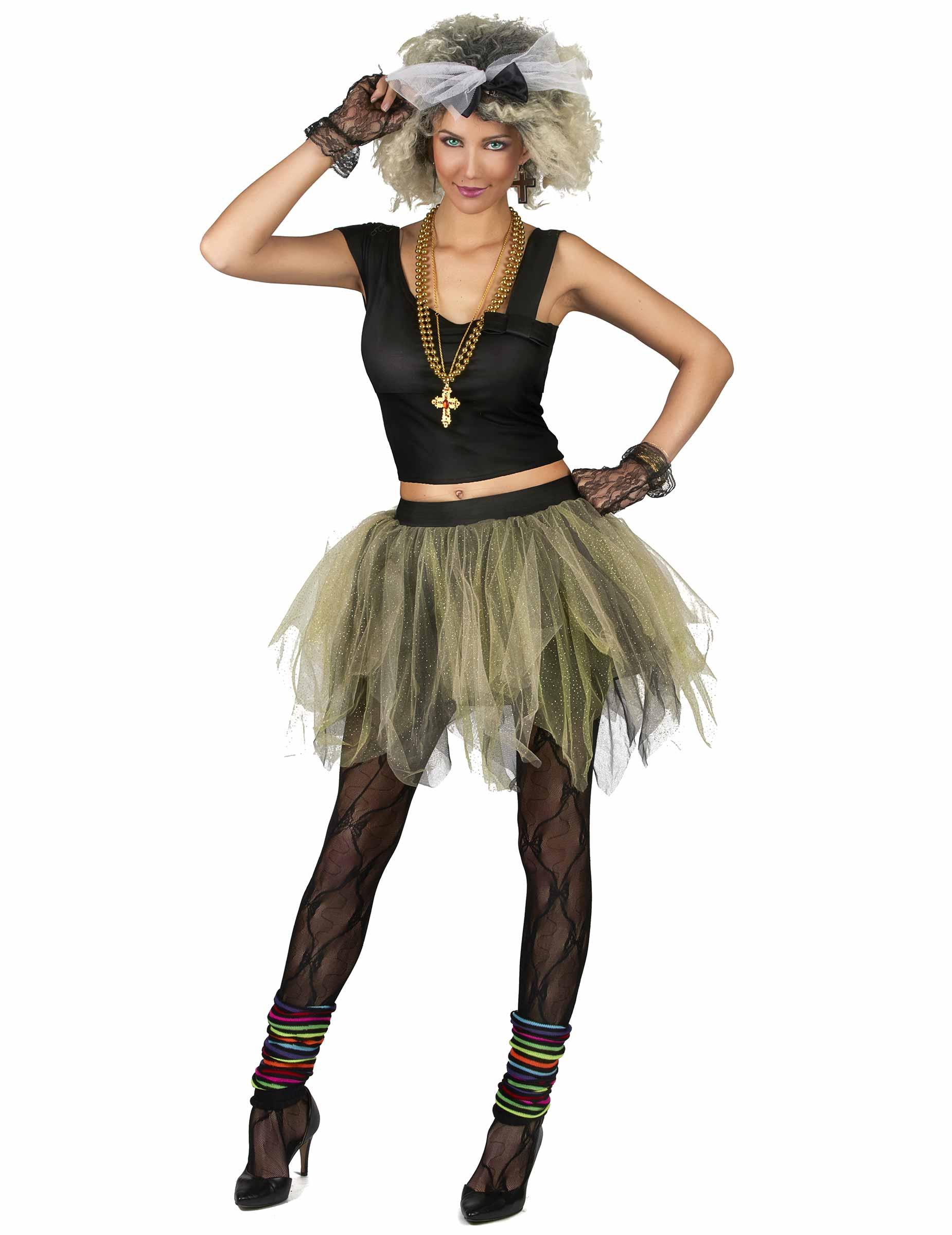 Costume Disco Rock Tutu Anni 80 Donna Costumi Adulti E