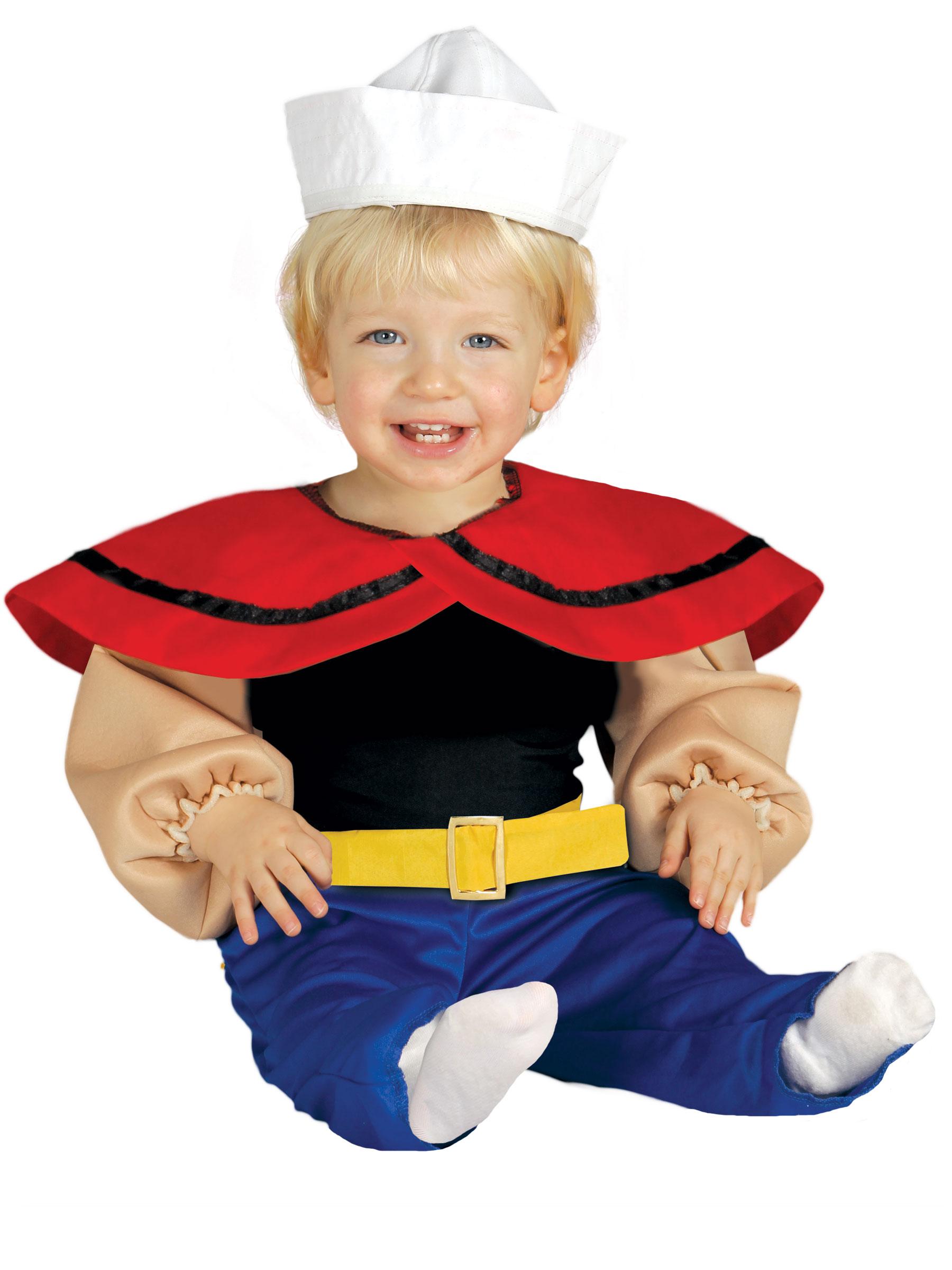 Costume da marinaio muscoloso per neonato costumi bambini - Costumi da bagno neonato disney ...