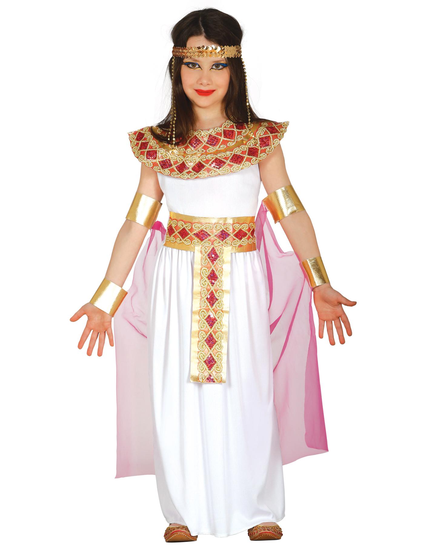 8ca2a8d25113 Costume da Antica Egizia rosa e dorato per bambina: Costumi bambini ...