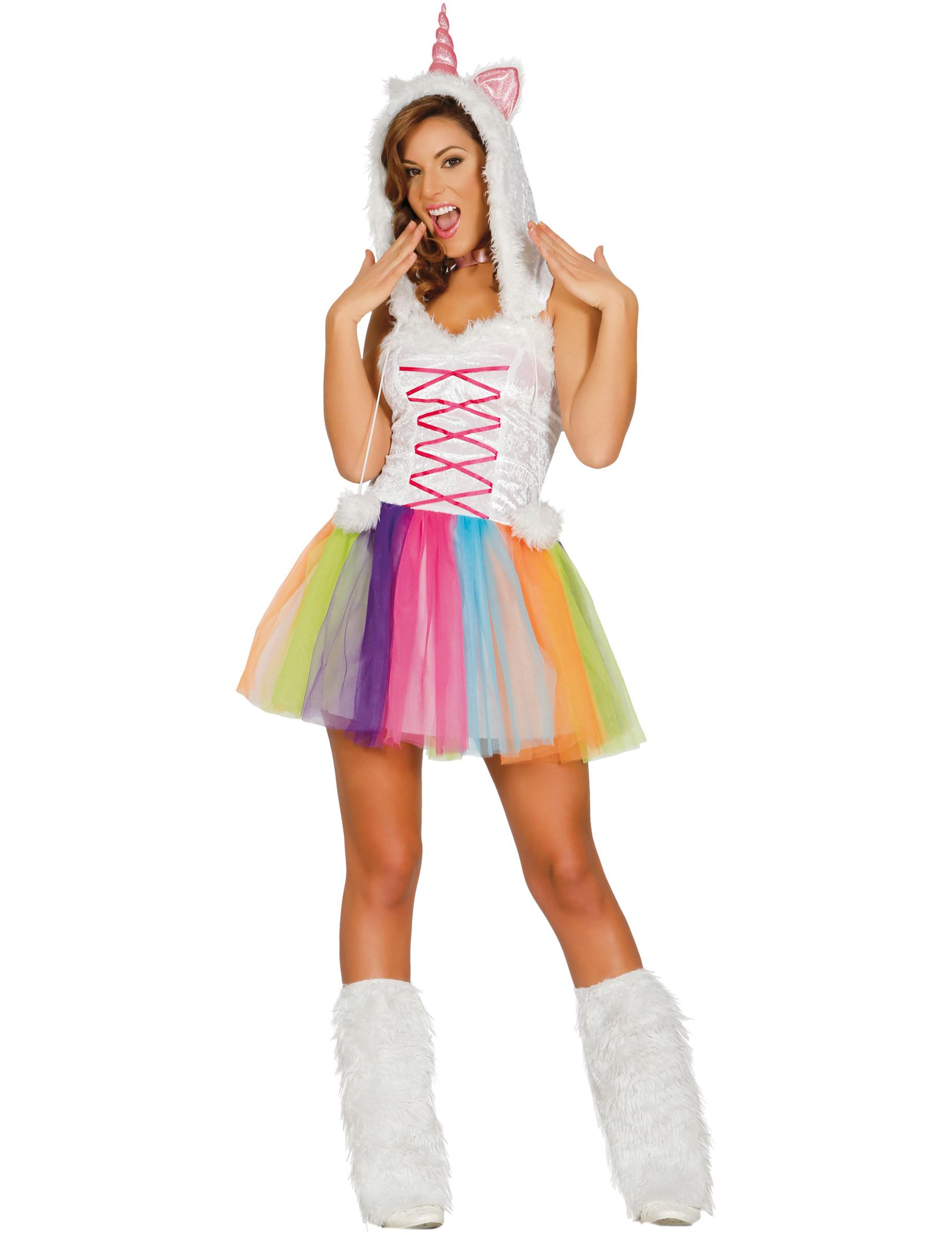 unicorno costume carnevale  Costume miss unicorno Donna: Costumi adulti,e vestiti di carnevale ...