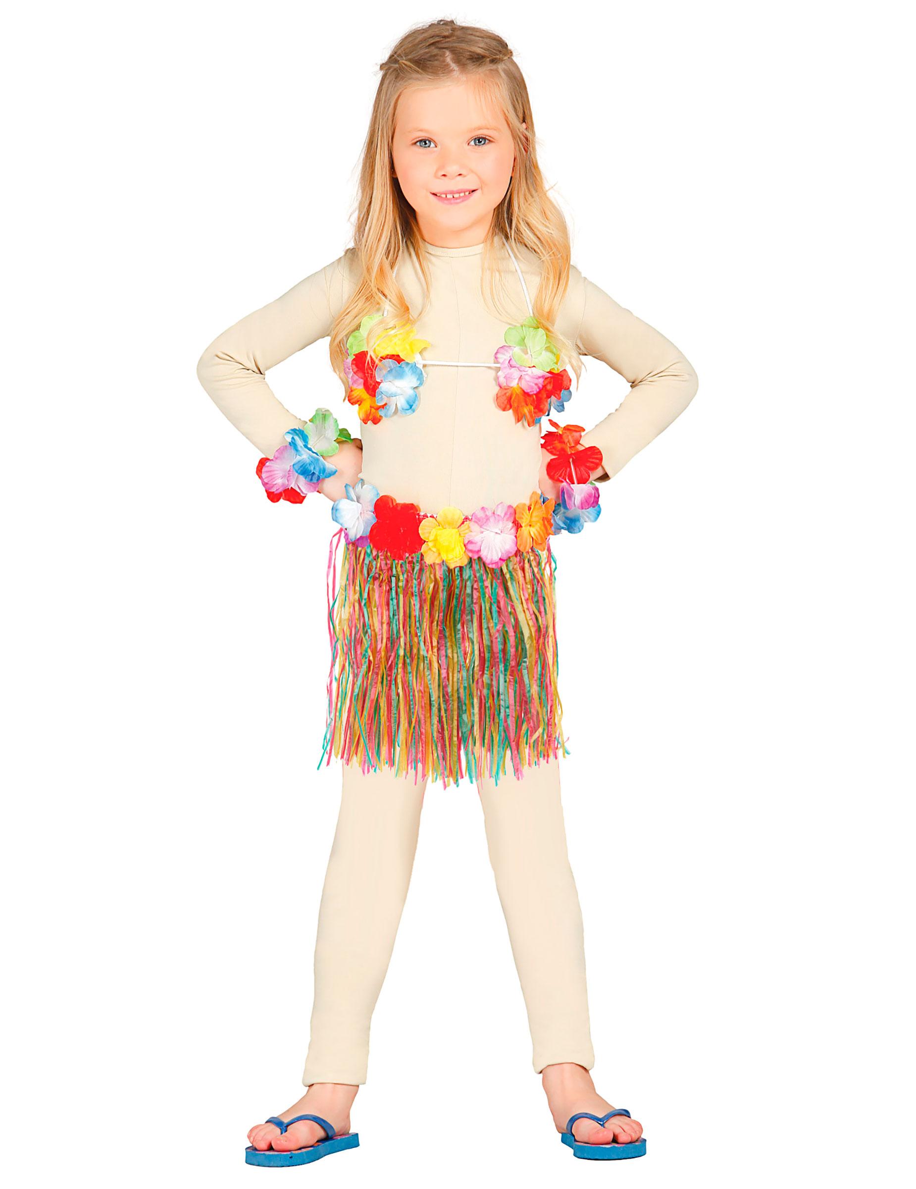 Kit Hawaiana Colorata Bambina Costumi Bambini E Vestiti