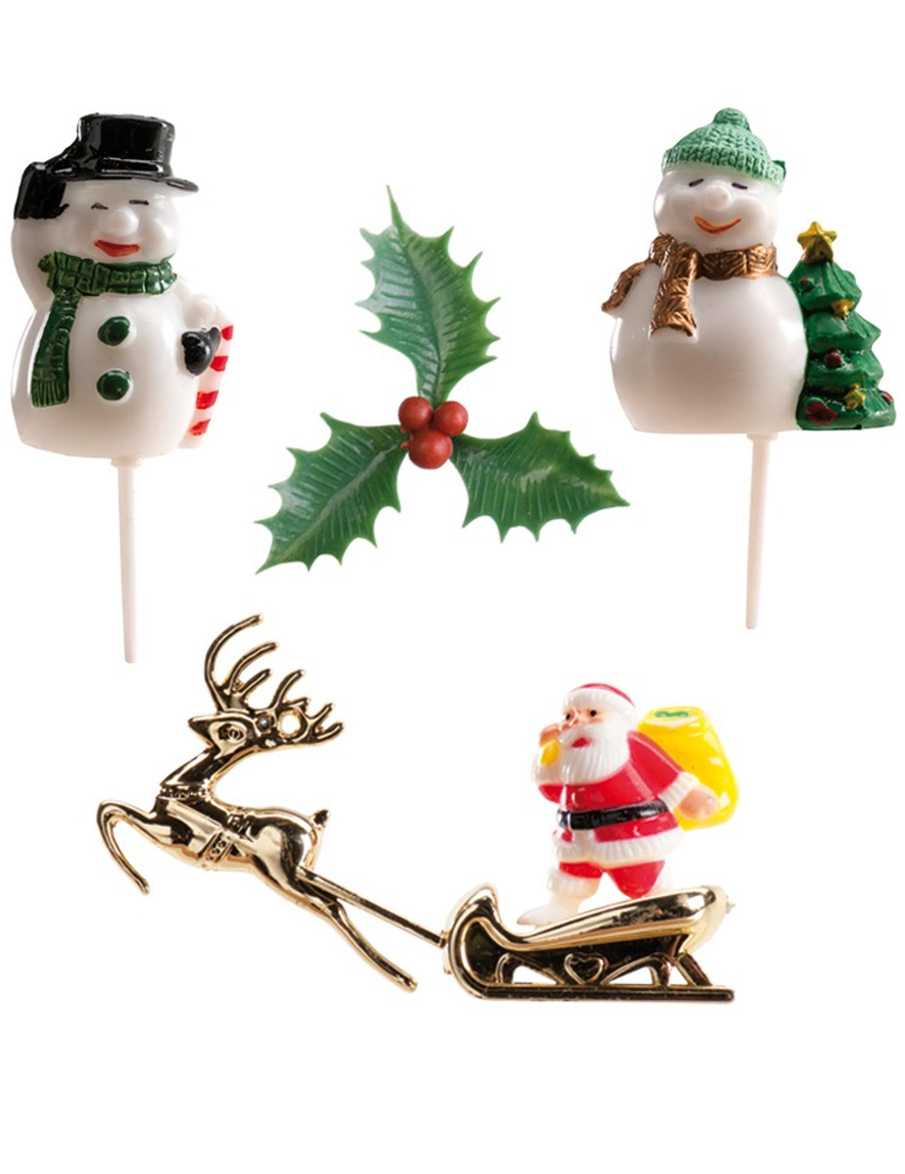 Kit da 6 decorazioni per dolci natalizi - Decorazioni natalizie per dolci ...