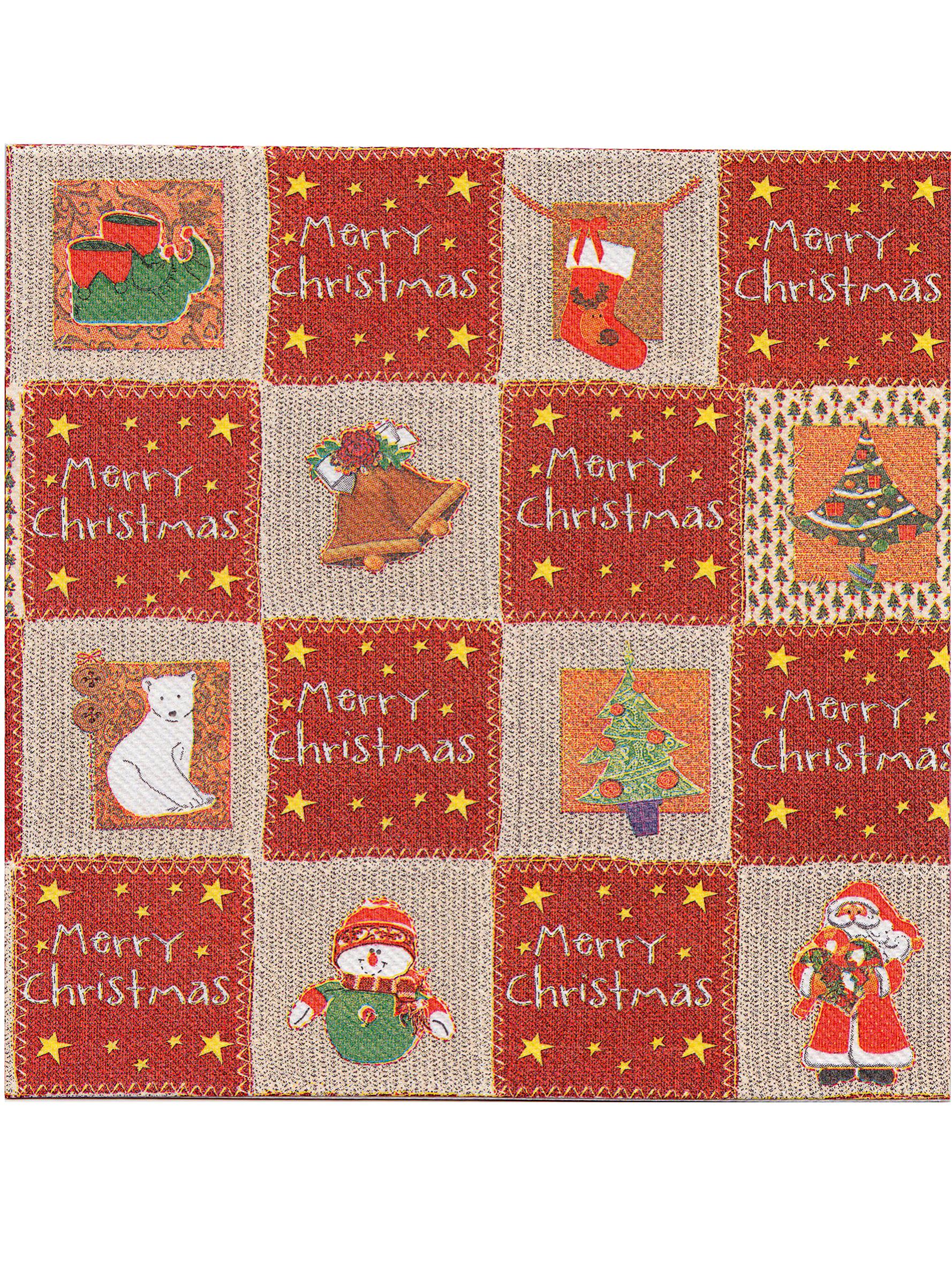 Piegare Tovaglioli Carta Natale 12 tovaglioli di carta spessi premium merry christmas 40 x