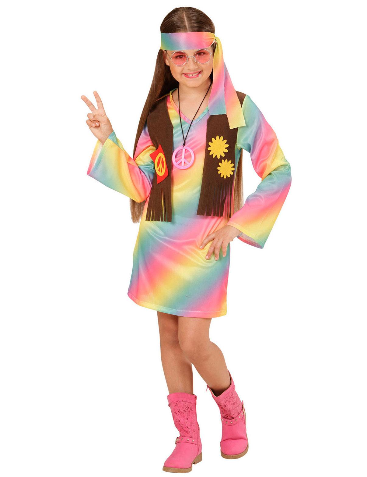Costume da Hippie colori pastello per bambina  Costumi bambini 9570b48e95d