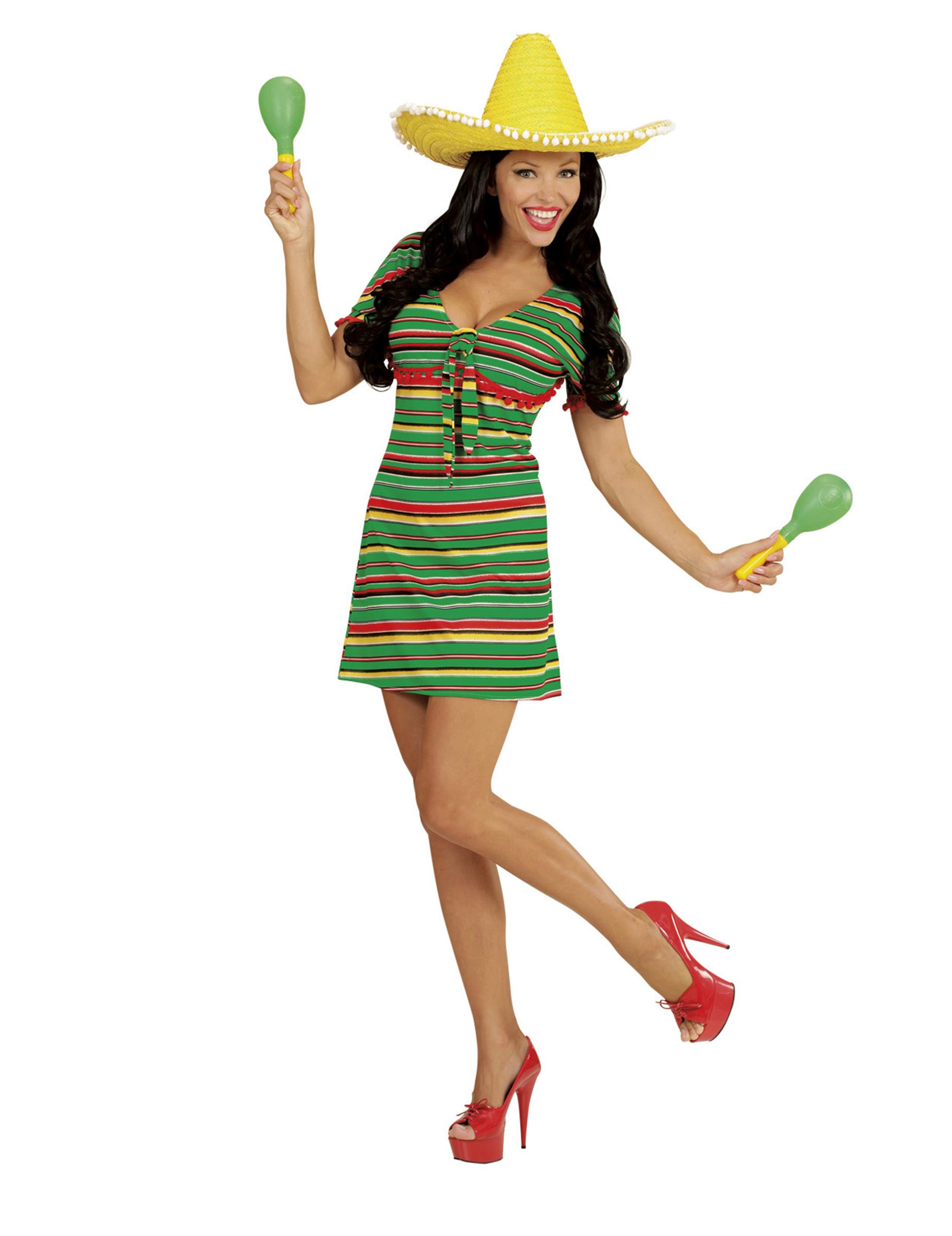 Costume Costumi Messicano Donna Di Vestiti Adulti A Righe e rAfInwxrUq