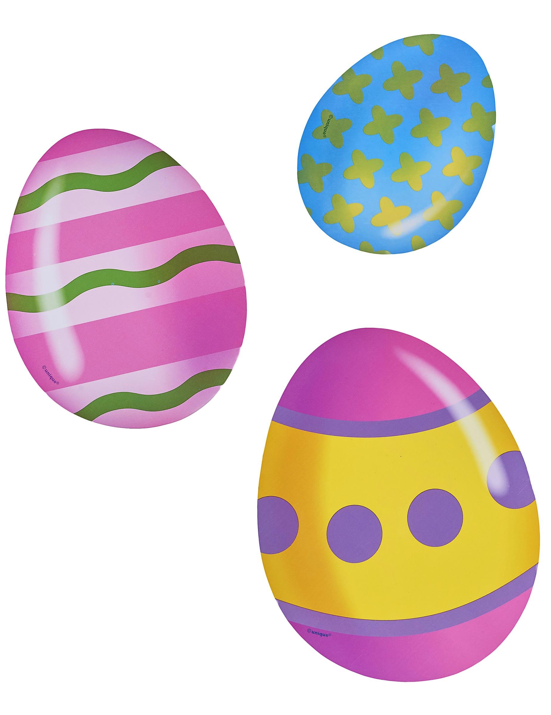 6 decorazioni di cartone uova di pasqua addobbi e vestiti di carnevale online vegaoo - Uova di pasqua decorazioni ...