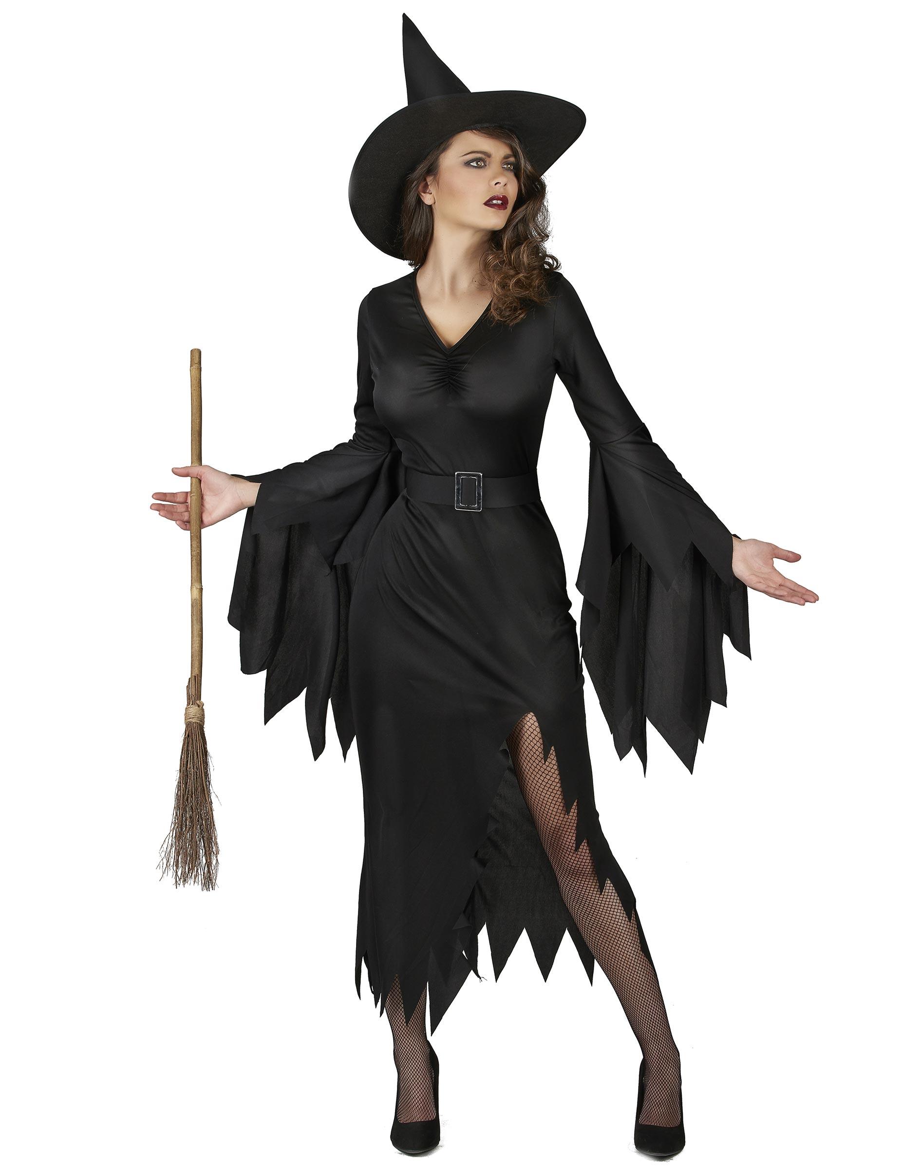 Scoprire Prezzo di fabbrica 2019 stile classico Costume da strega nero sexy donna