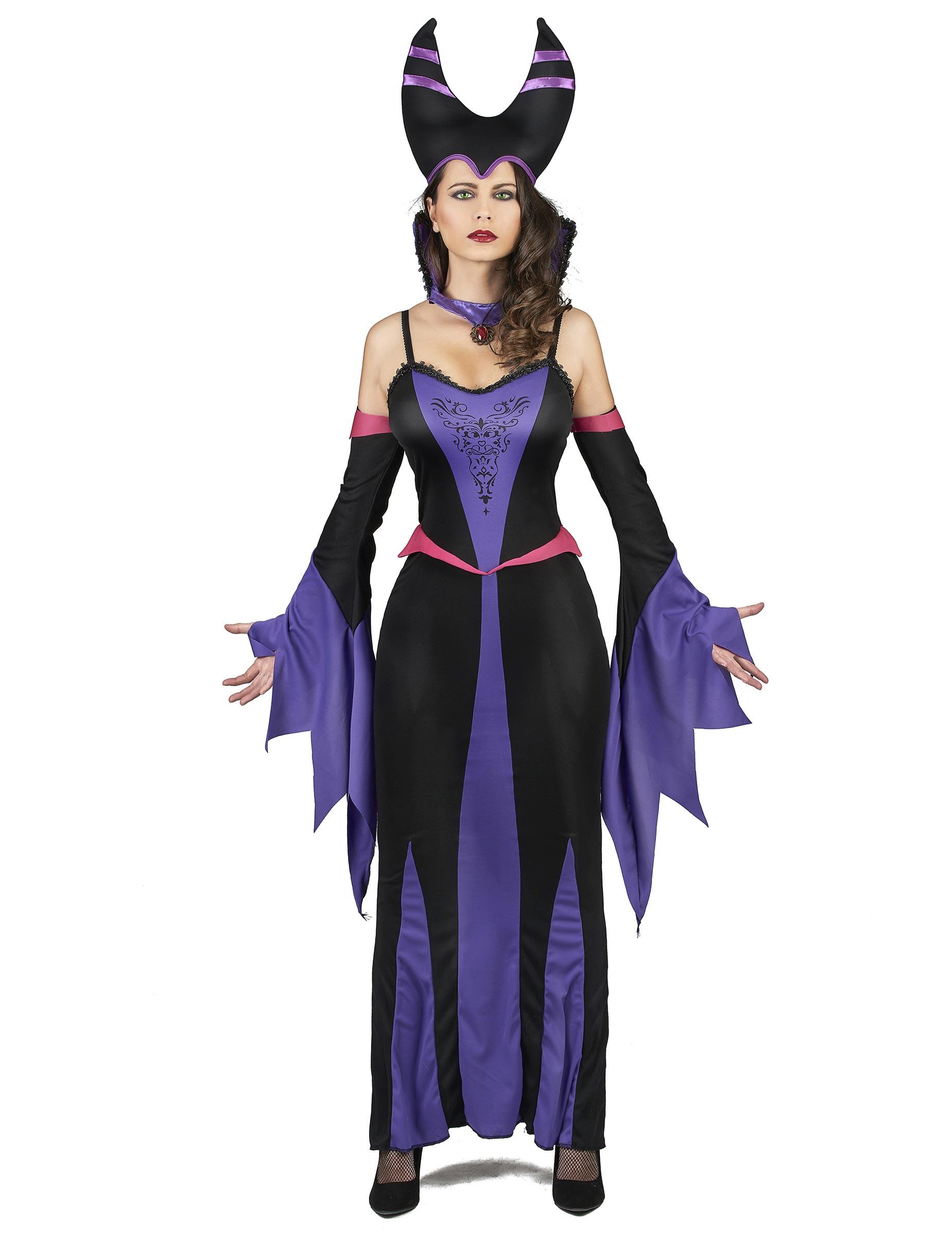 626429ee4db1 Costume da donna malefica viola per adulto: Costumi adulti,e vestiti ...