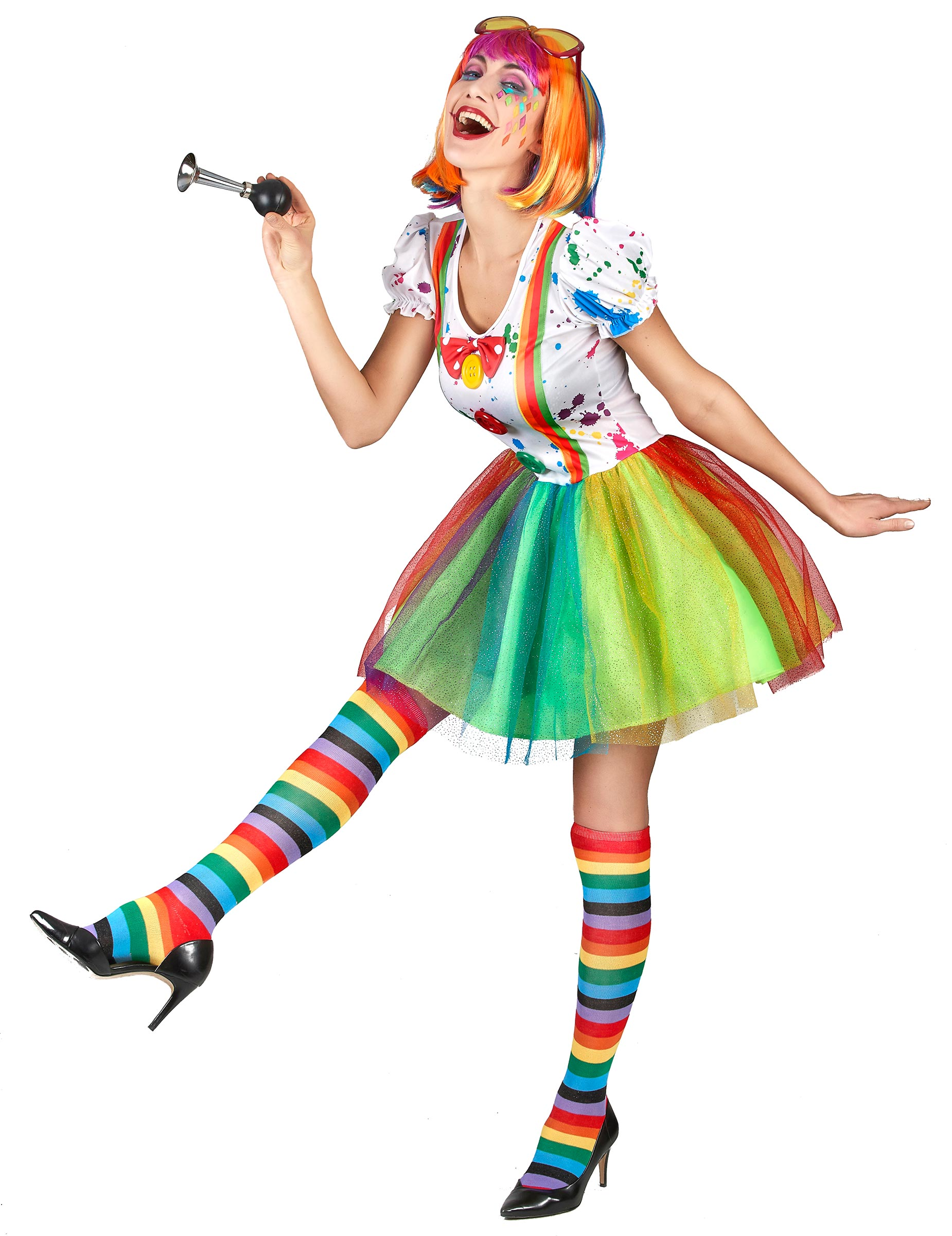 2cb05e99ddfe Donna Adulti Vestiti Di Da Costume Pittore Clown e Per Costumi wFqI7qH