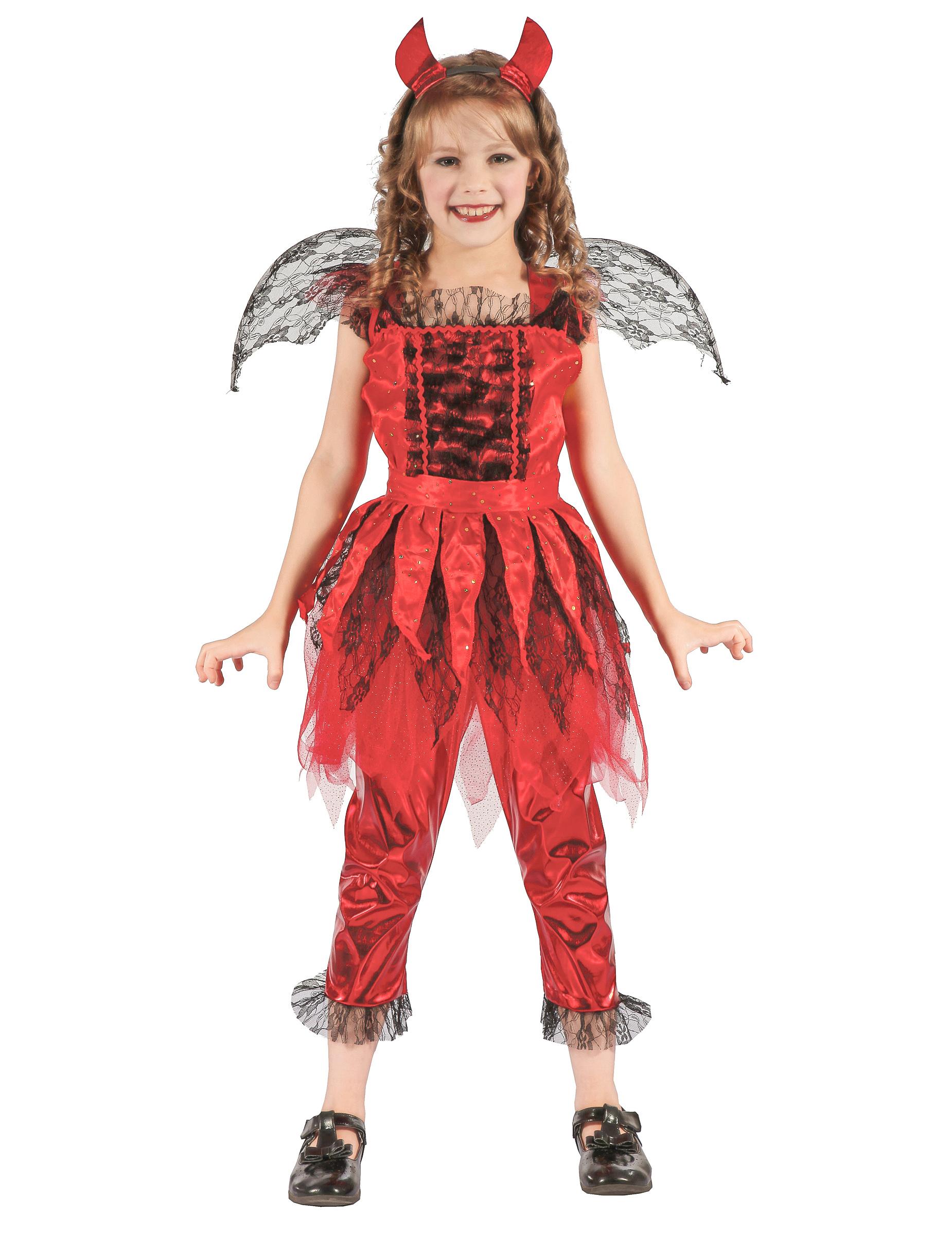 Costume demone del fuoco bambina  Costumi bambini 9fe1379e53c0