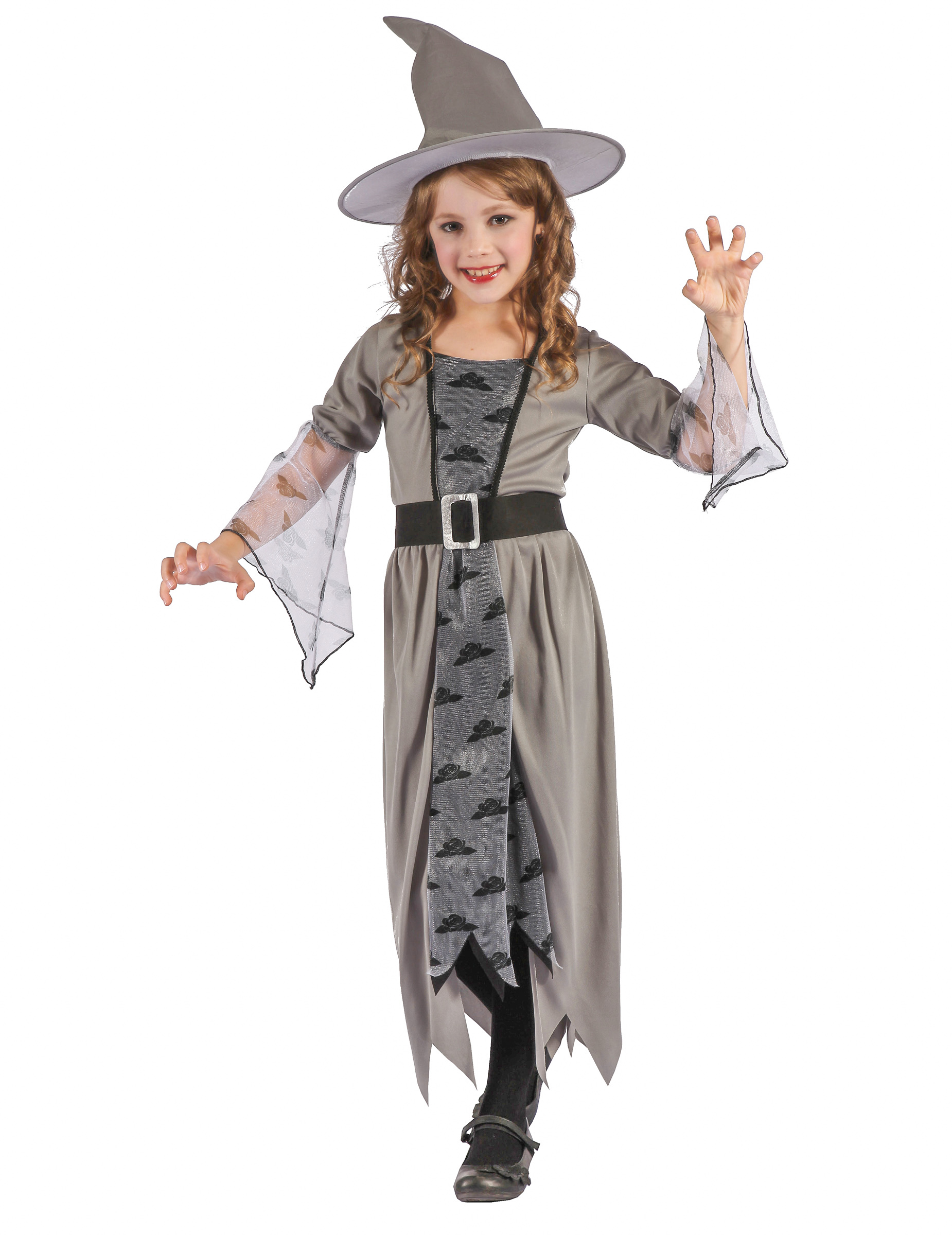 Costume da strega grigia con nuvole per bambina - Halloween  Costumi ... 76be9f24911b