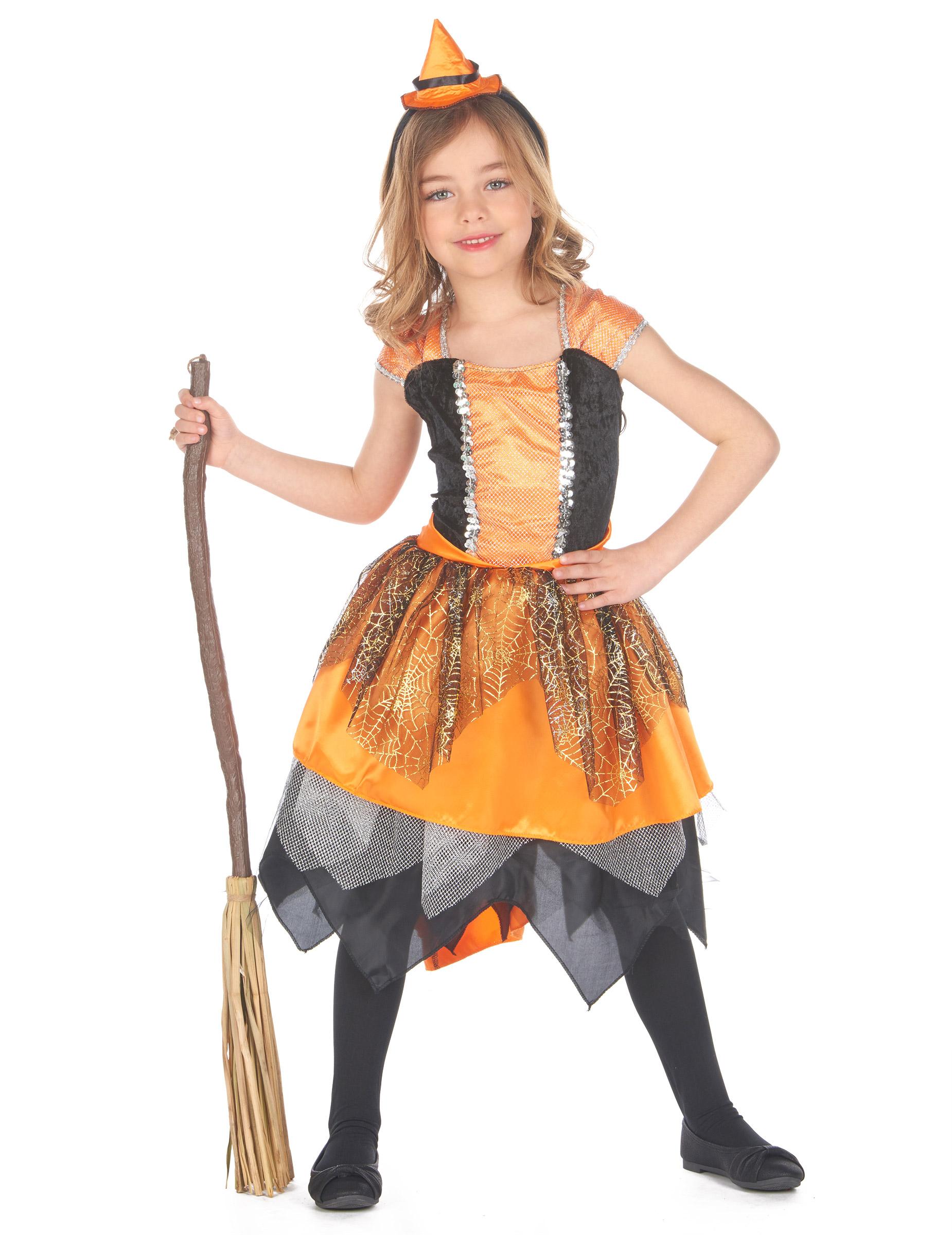 Costume da strega con ragnatele per bambina Halloween  Costumi ... 9a25e0faf5c3