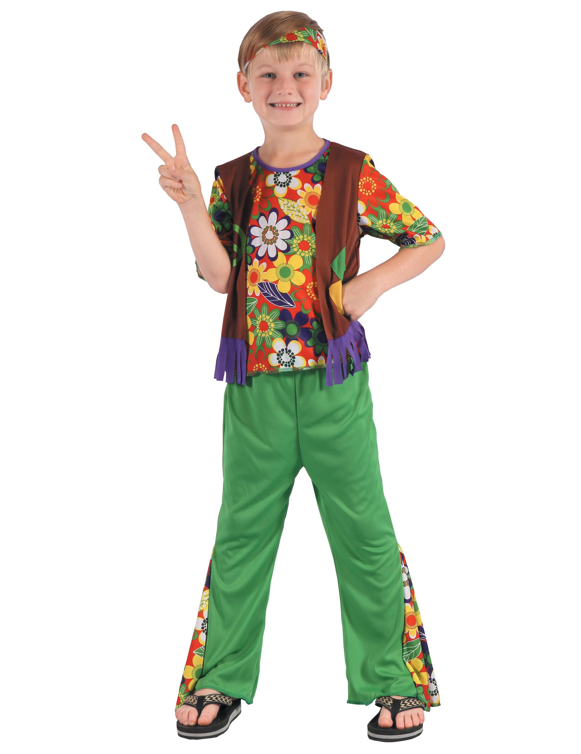 FLOWER Power Bambini Costume Hippie Costume bambini hippie Peace Costume figlio dei fiori