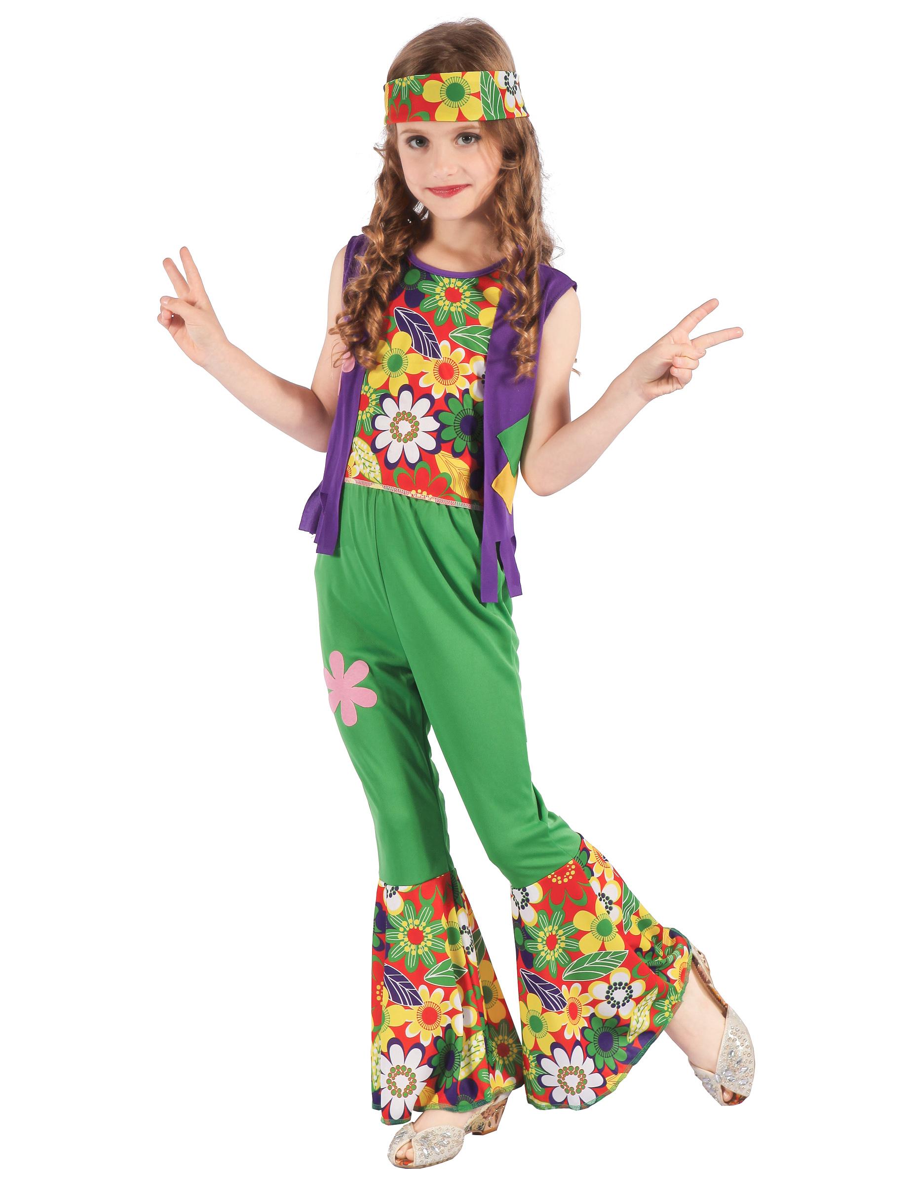 Costume da hippie flower power per bambina: Costumi ...