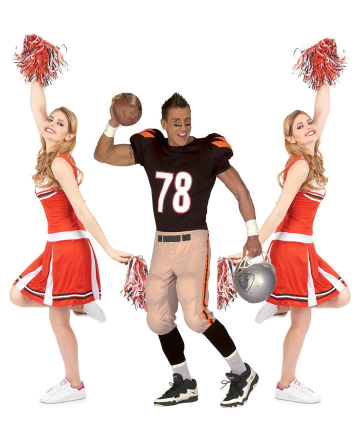 c83b904166da Costume di gruppo giocatore Football americano e ragazze pompon ...
