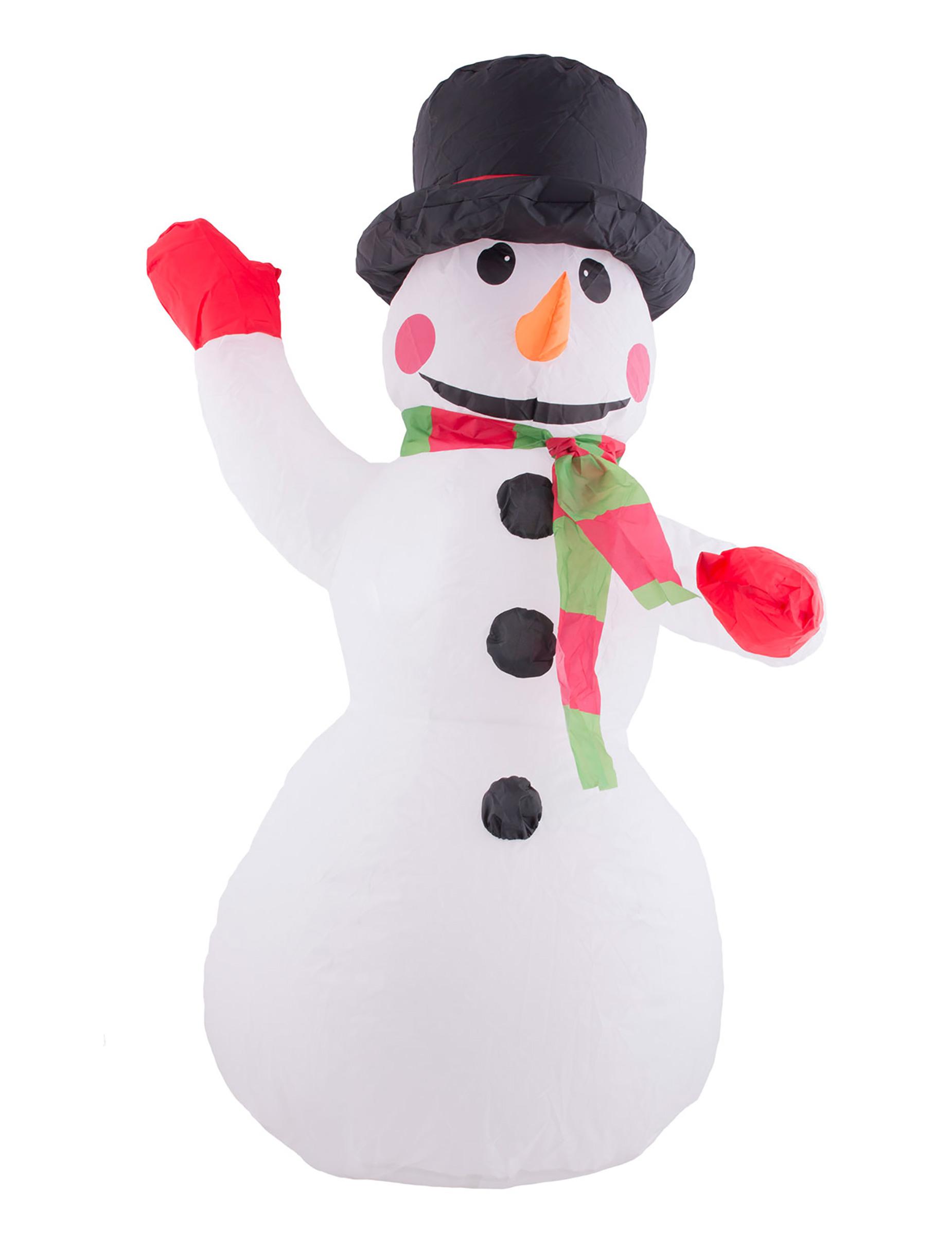 Decorazioni Natalizie Gonfiabili.Decorazione Di Natale Pupazzo Di Neve Gonfiabile E Luminoso Addobbi