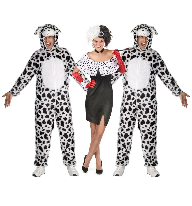 outlet in vendita assolutamente alla moda arriva Costume gruppo Crudelia e i suoi dalmata