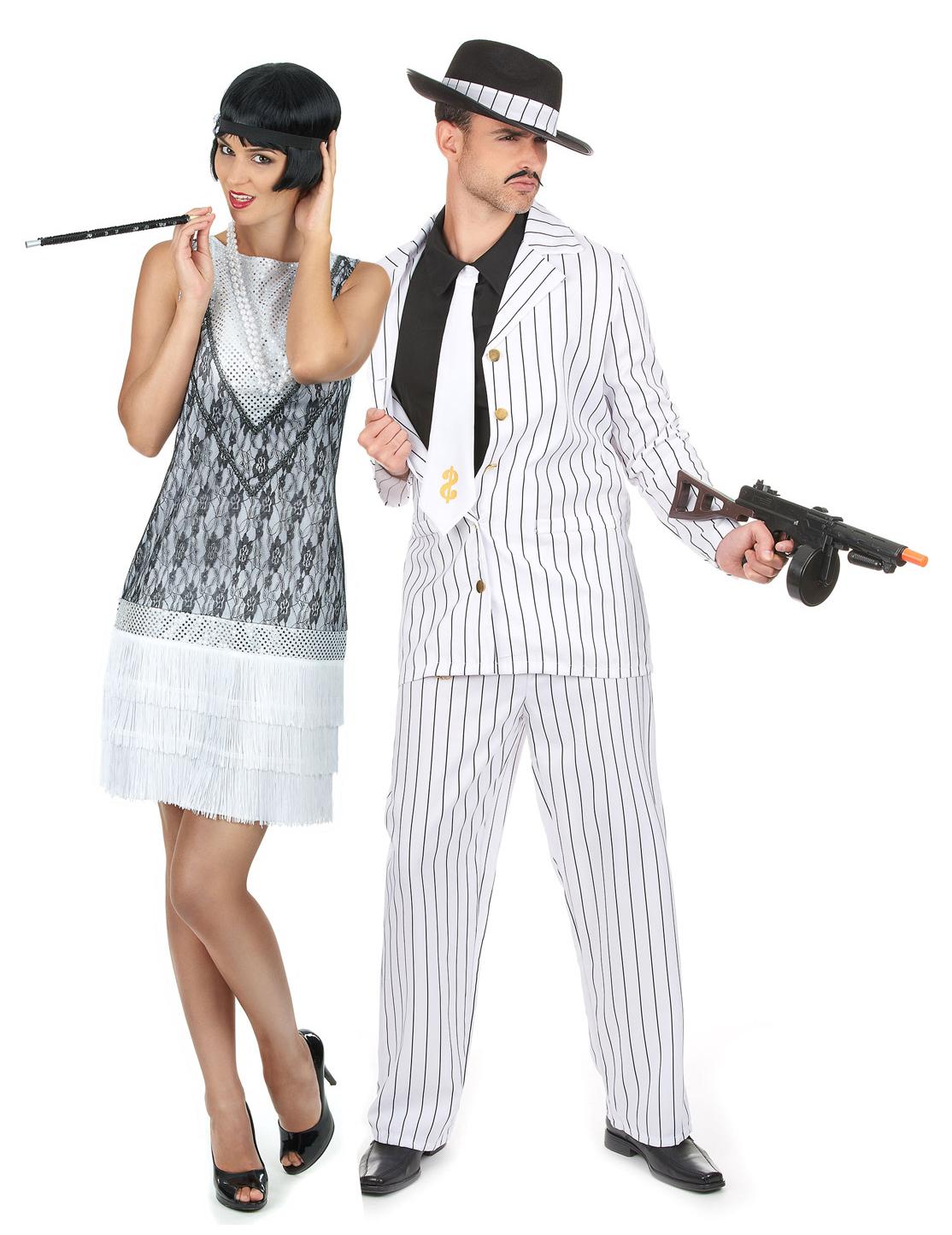 Favorito Costume di coppia charleston bianco: Costumi coppia,e vestiti di  JP61