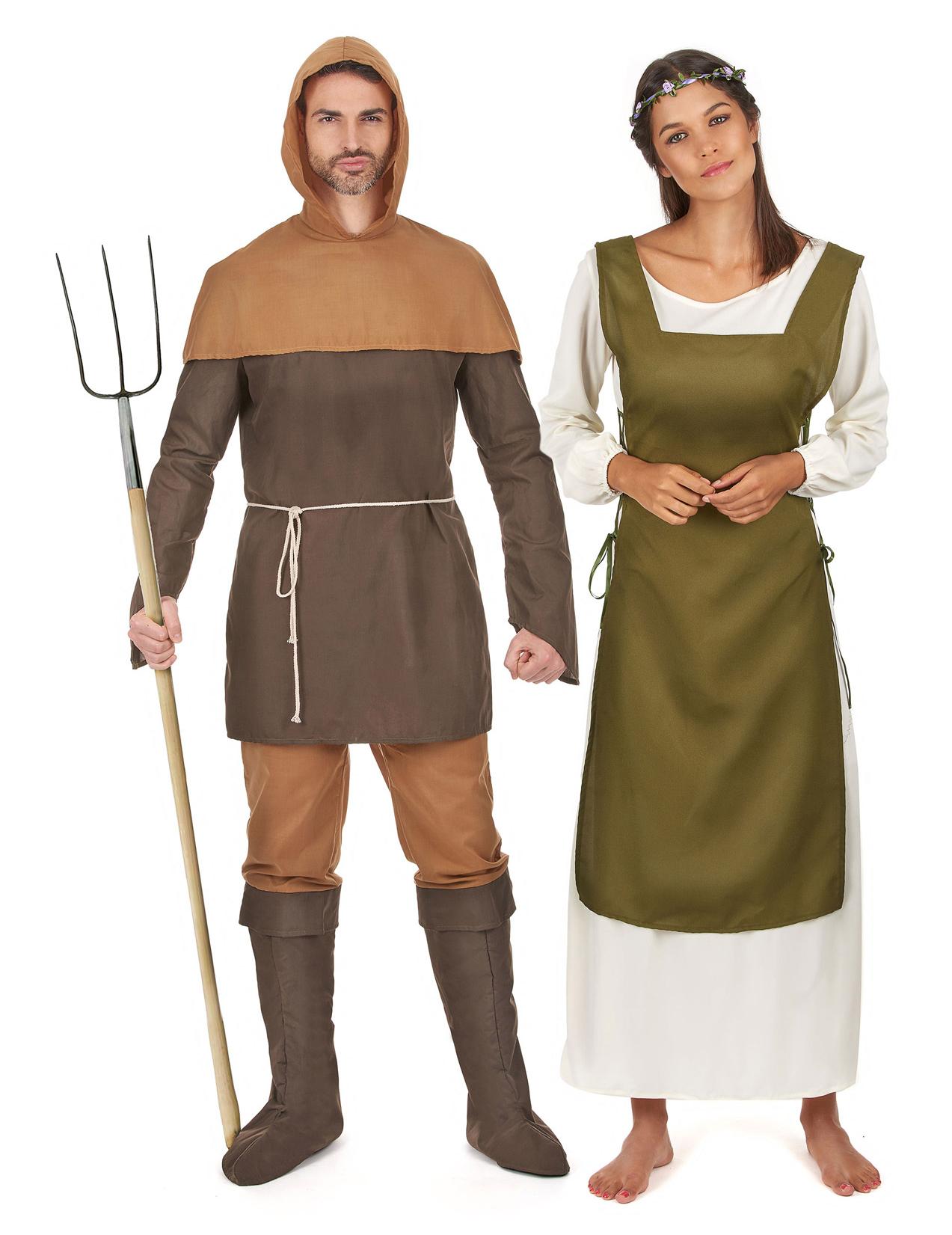 Costume Di Coppia Da Contadini Medievali Costumi Coppiae Vestiti