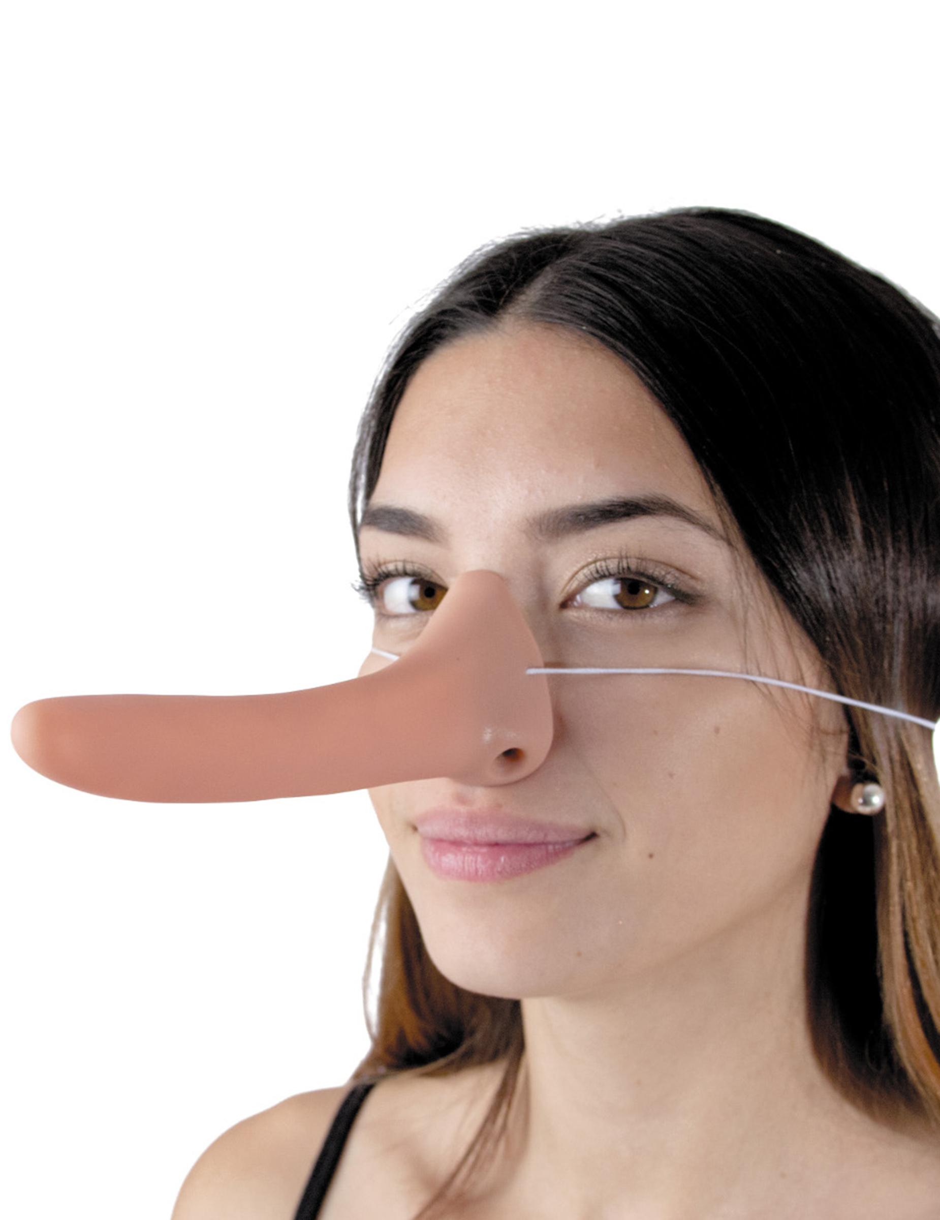 Maschera mezzo viso con naso lungo euro