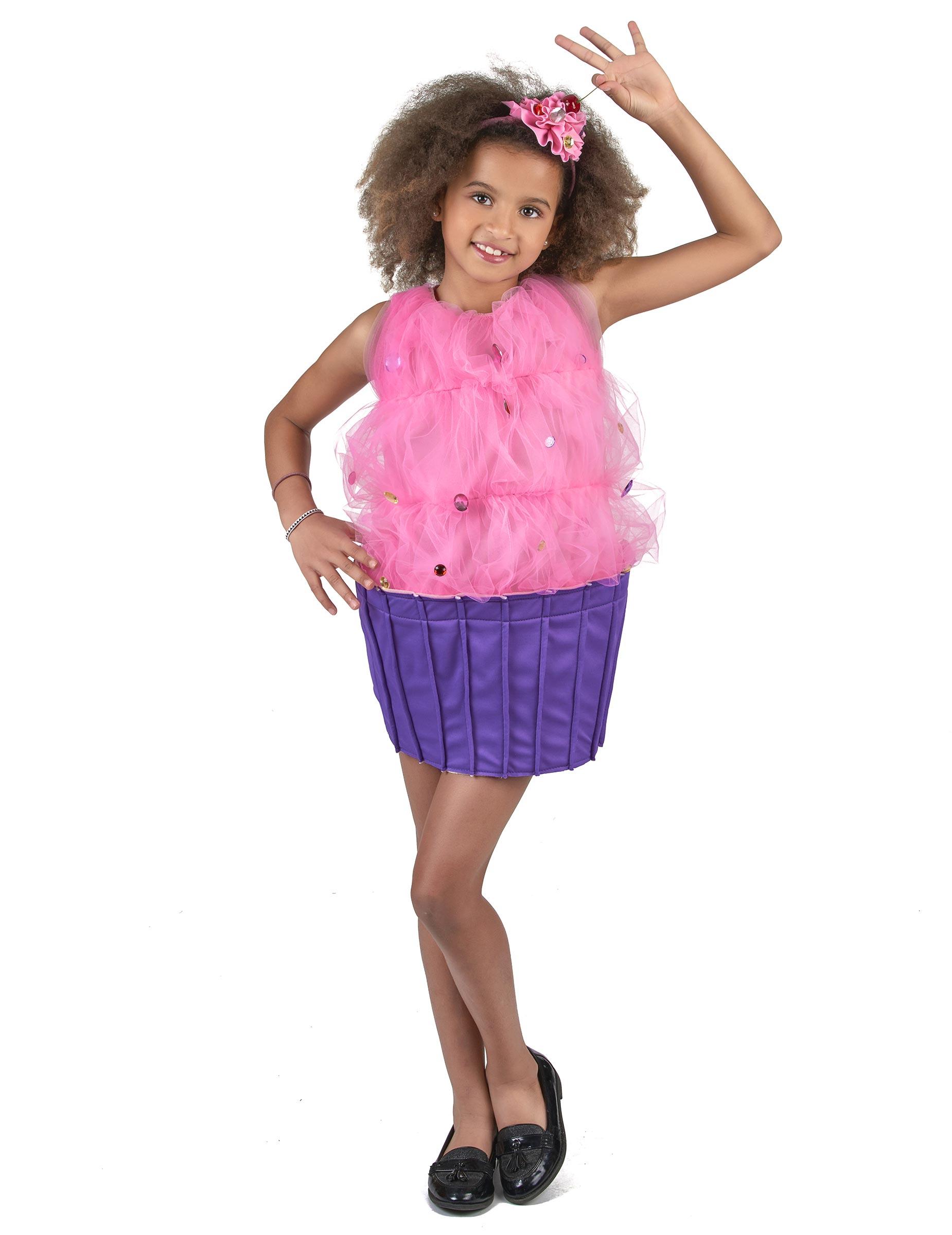 424f6866699c Costume cupcake rosa bambina: Costumi bambini,e vestiti di carnevale ...