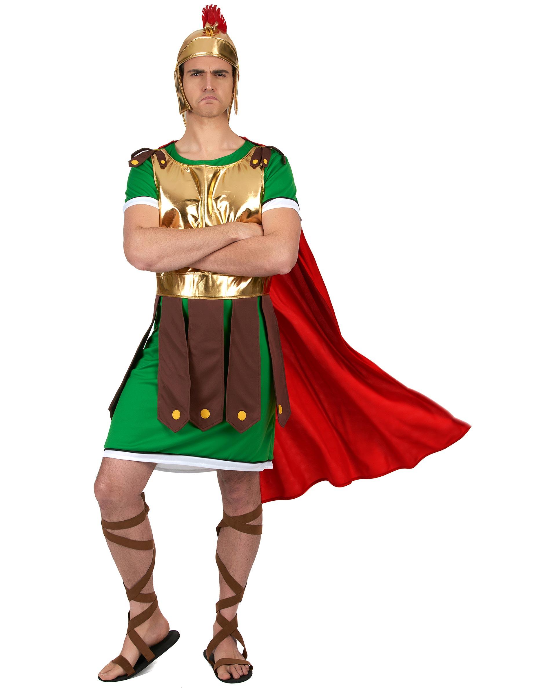 Costume Da Soldato Romano Verde Per Uomo Costumi Adulti E