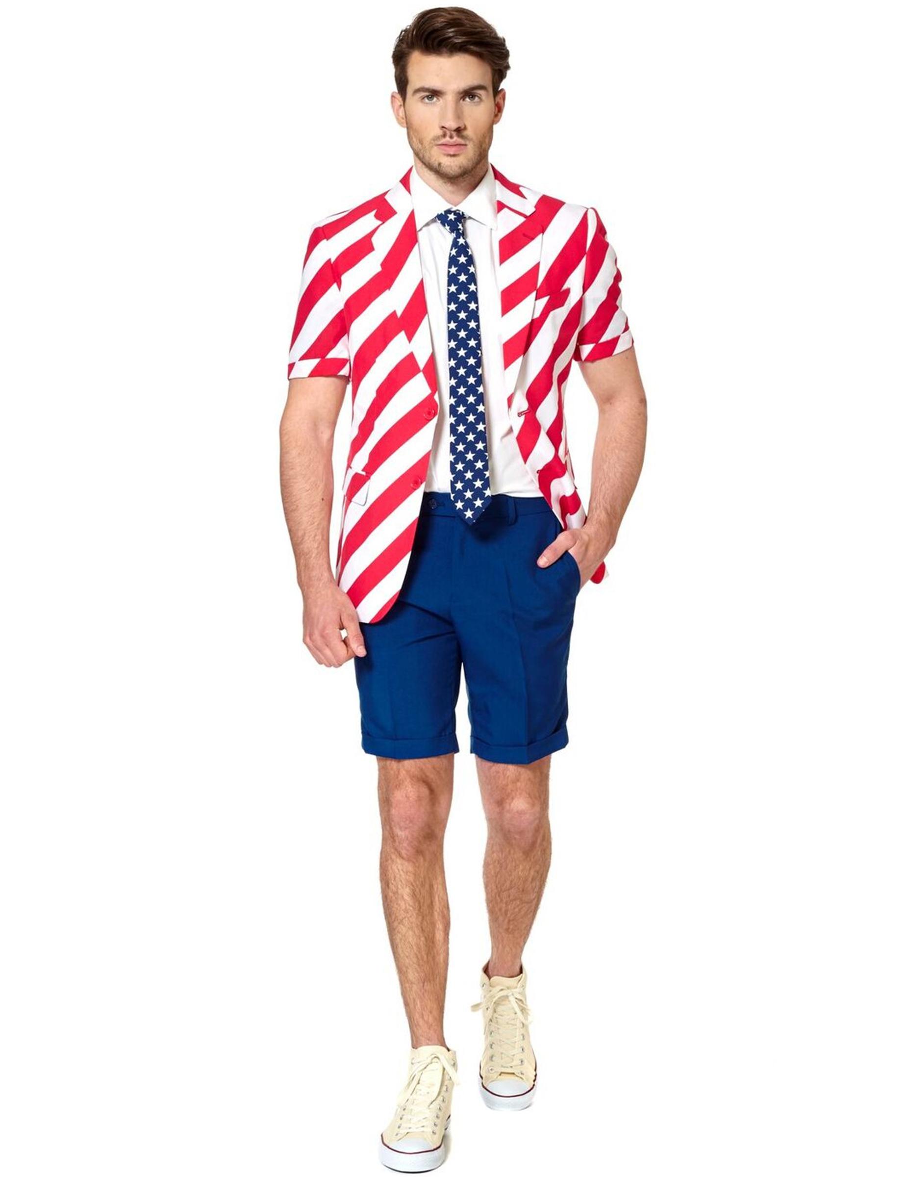 Abito estivo Americano uomo Opposuits™: Costumi adulti,e