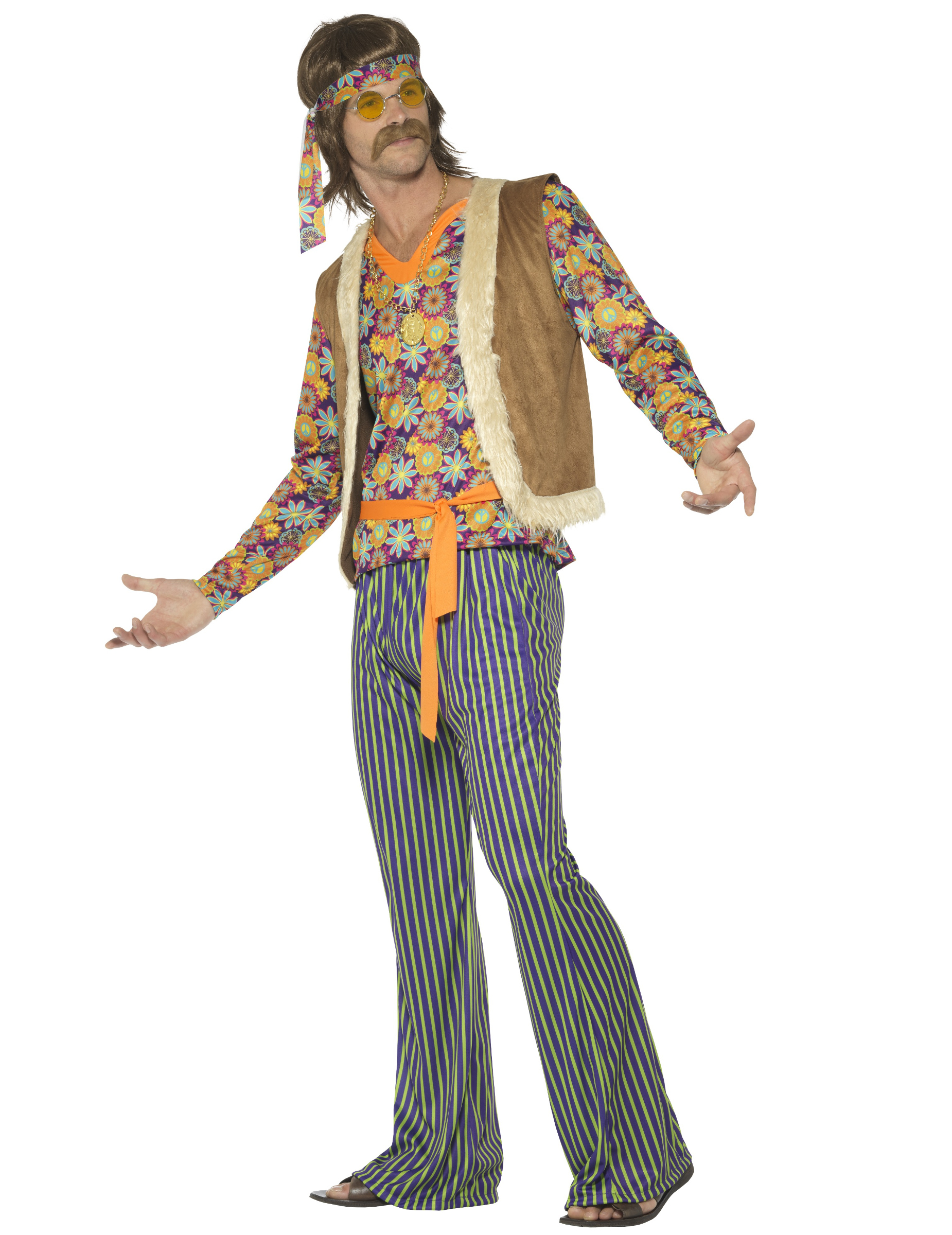 93829b6c71ad Costume da cantante hippie anni 60 per uomo  Costumi adulti