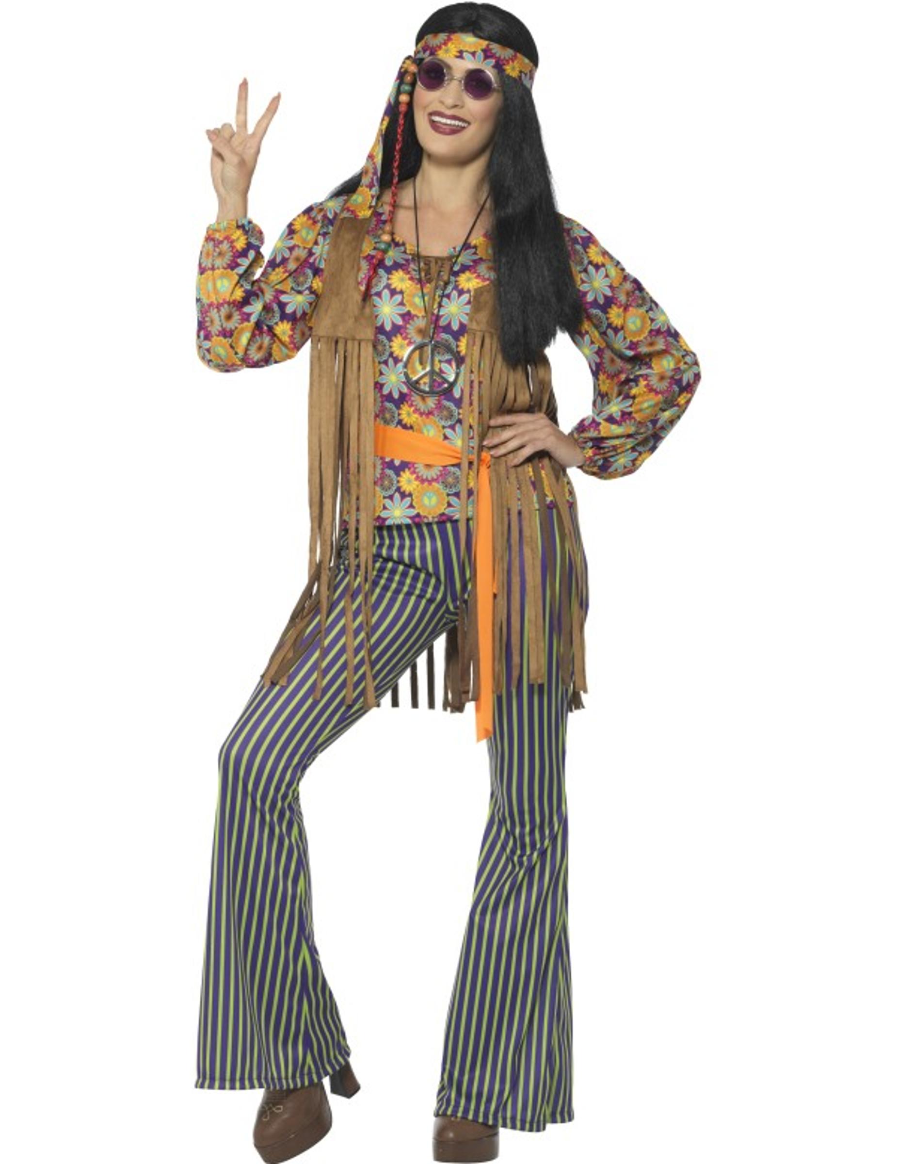 abf4b76e8ea7 Costume cantante hippie anni 60 donna  Costumi adulti