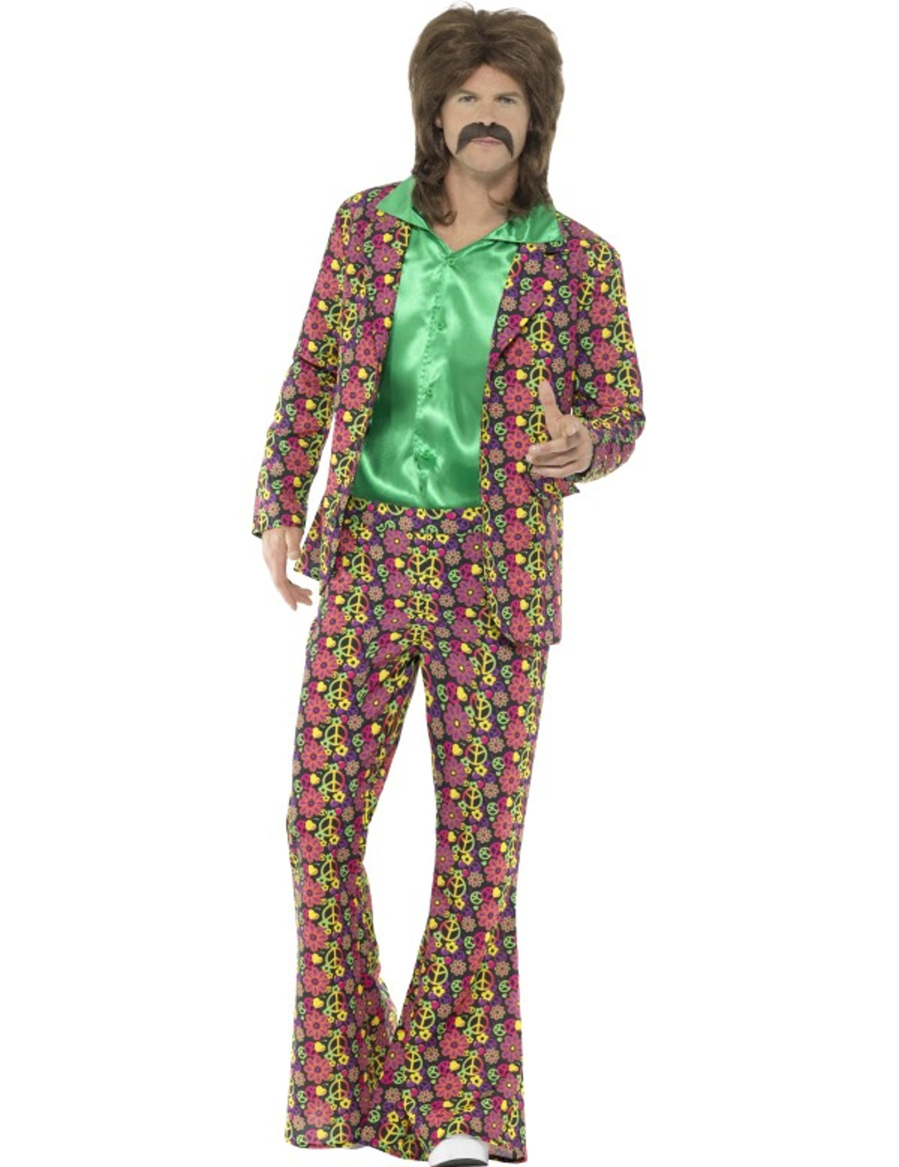 Costume da Hippie con giacca per uomo  Costumi adulti eb93a84a24c
