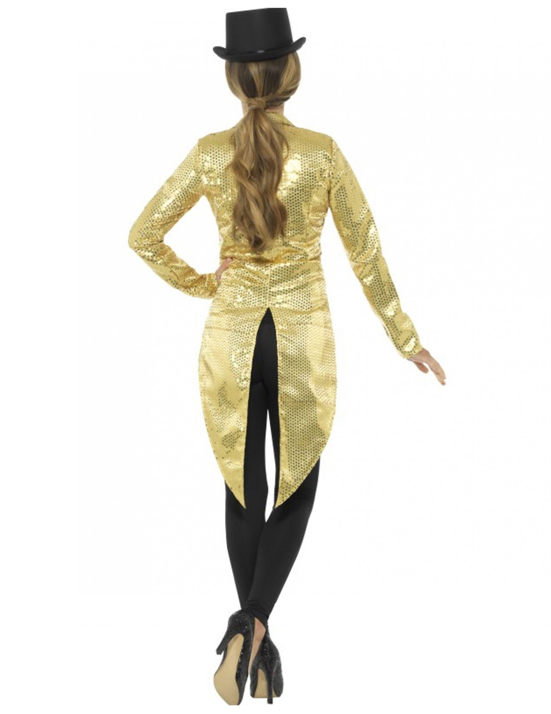 Giacca a coda di rondine dorata per donna