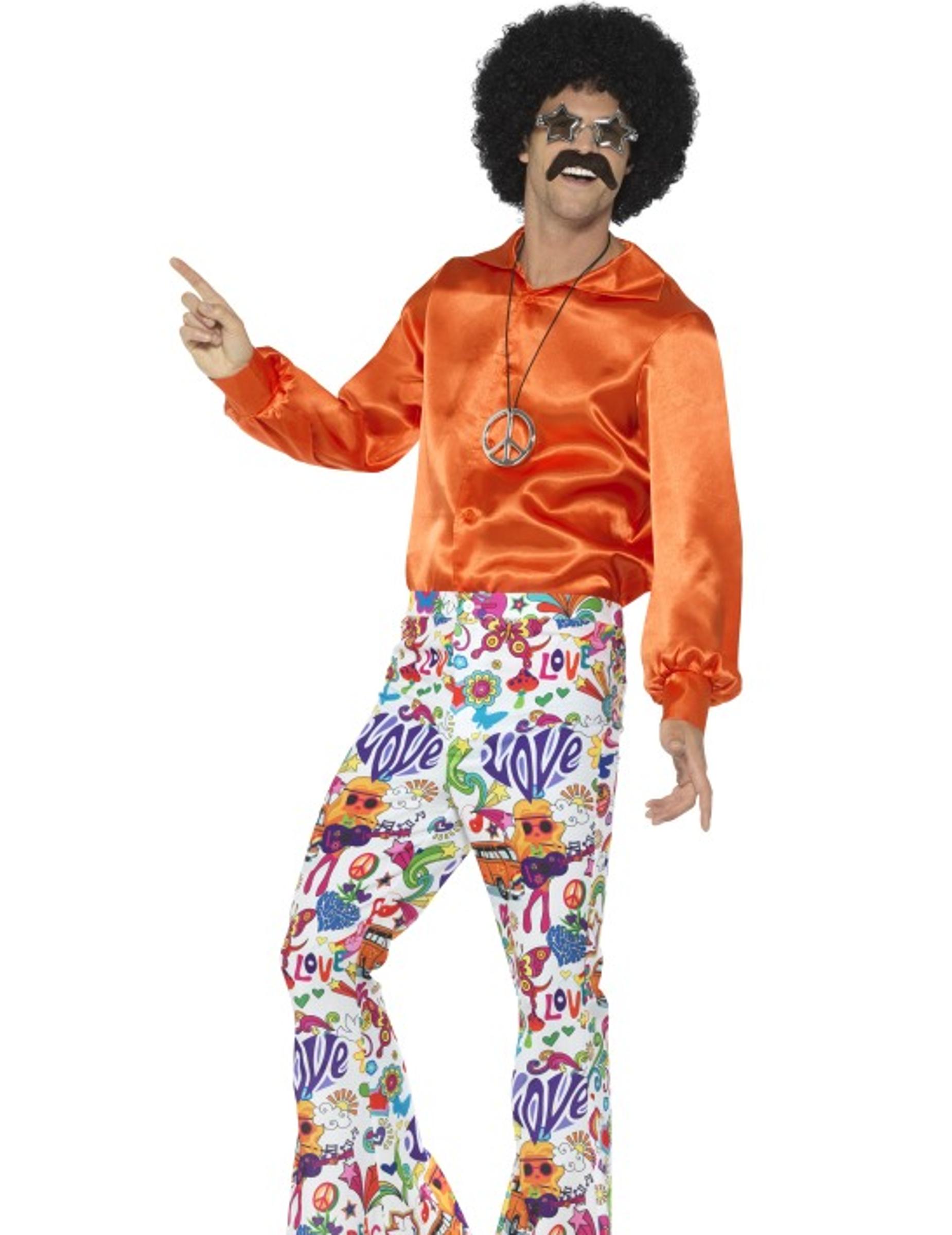 Pantaloni hippie colorati per uomo  Costumi adulti 4eb3f27adf9