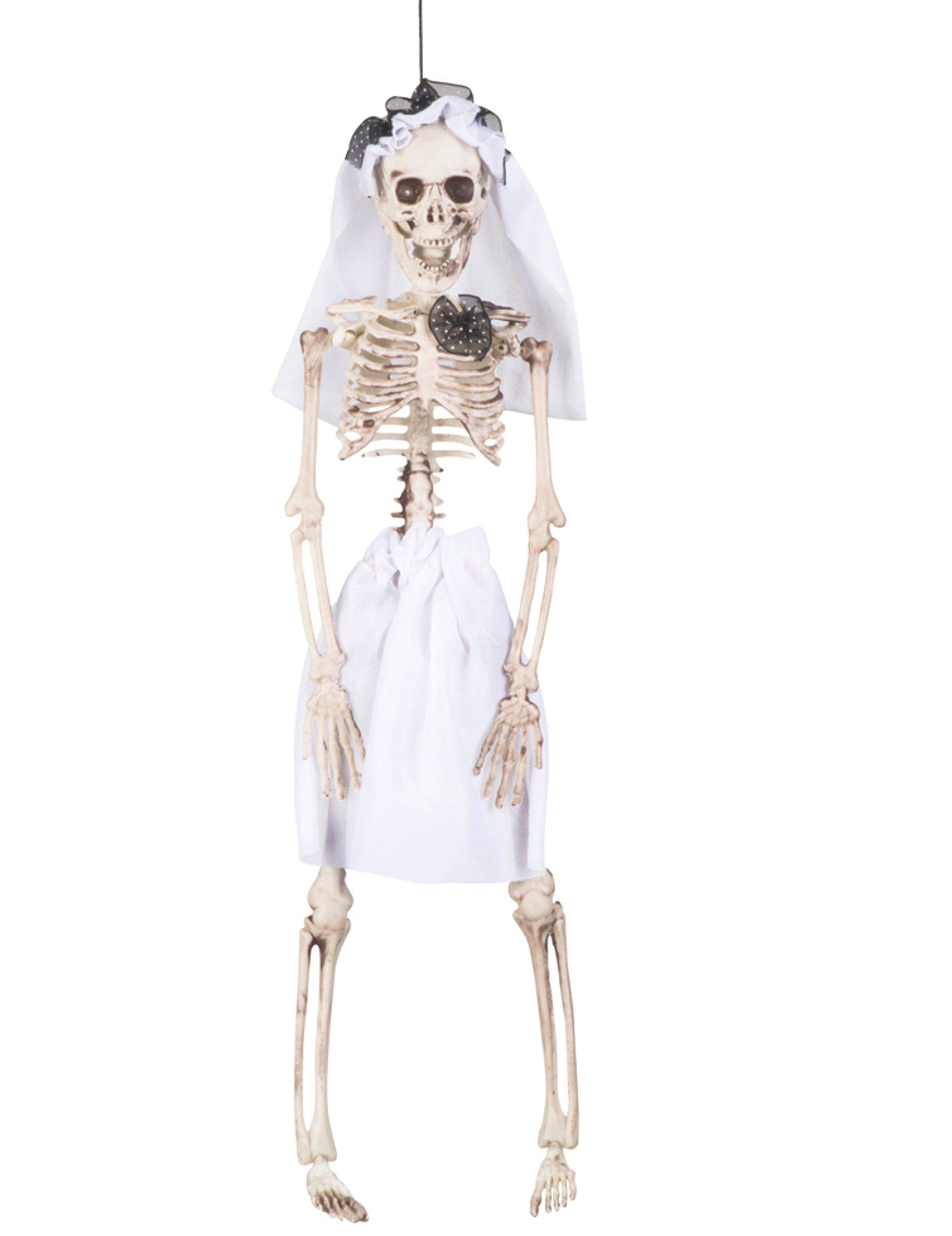 decorazione scheletro con vestito da sposa halloween addobbi e vestiti di carnevale online vegaoo. Black Bedroom Furniture Sets. Home Design Ideas