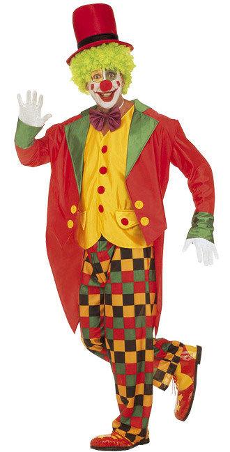 Costume Da Pagliaccio Giallo E Rosso Per Uomo Costumi Adultie