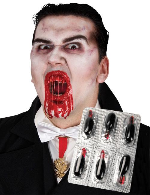 6 Capsule di sangue finto halloween  Trucco 4a8437956c22
