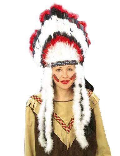 Copricapo indiano con piume adulto  Cappelli 7c0833cd35bf