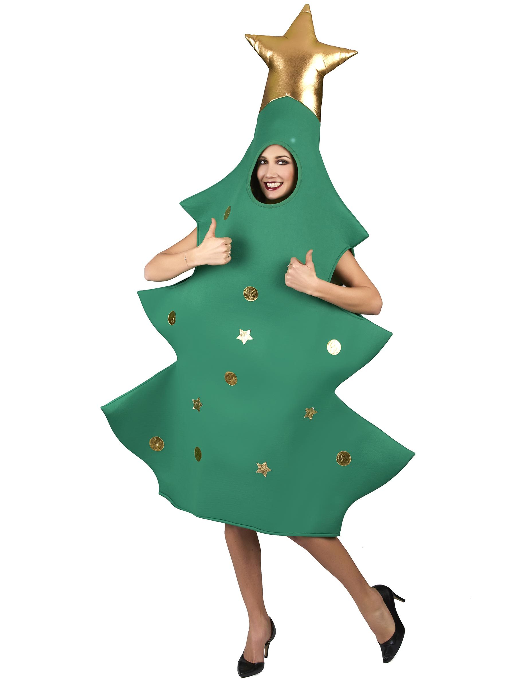 Vestito Da Stella Per Recita Di Natale.Costume Albero Di Natale 3d Per Adulto