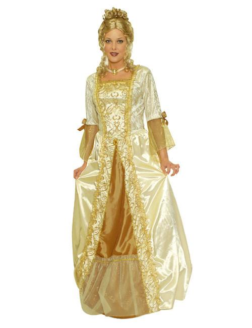 546e5b24dc00 Costume da dama barocca dorato  Costumi adulti