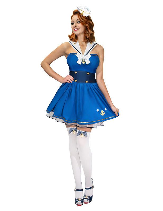 7e775b431ecb Costume da marinaia pin-up per donna  Costumi adulti